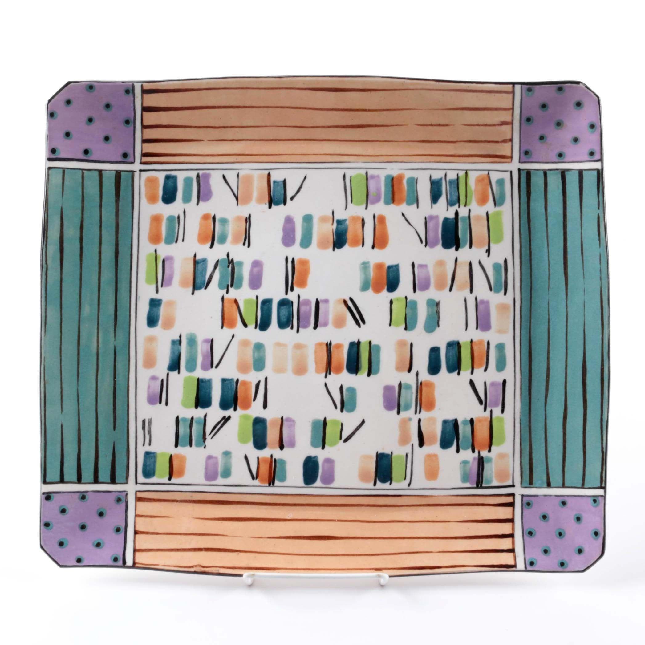 Dorothy Hafner Hand-Painted Porcelain Platter