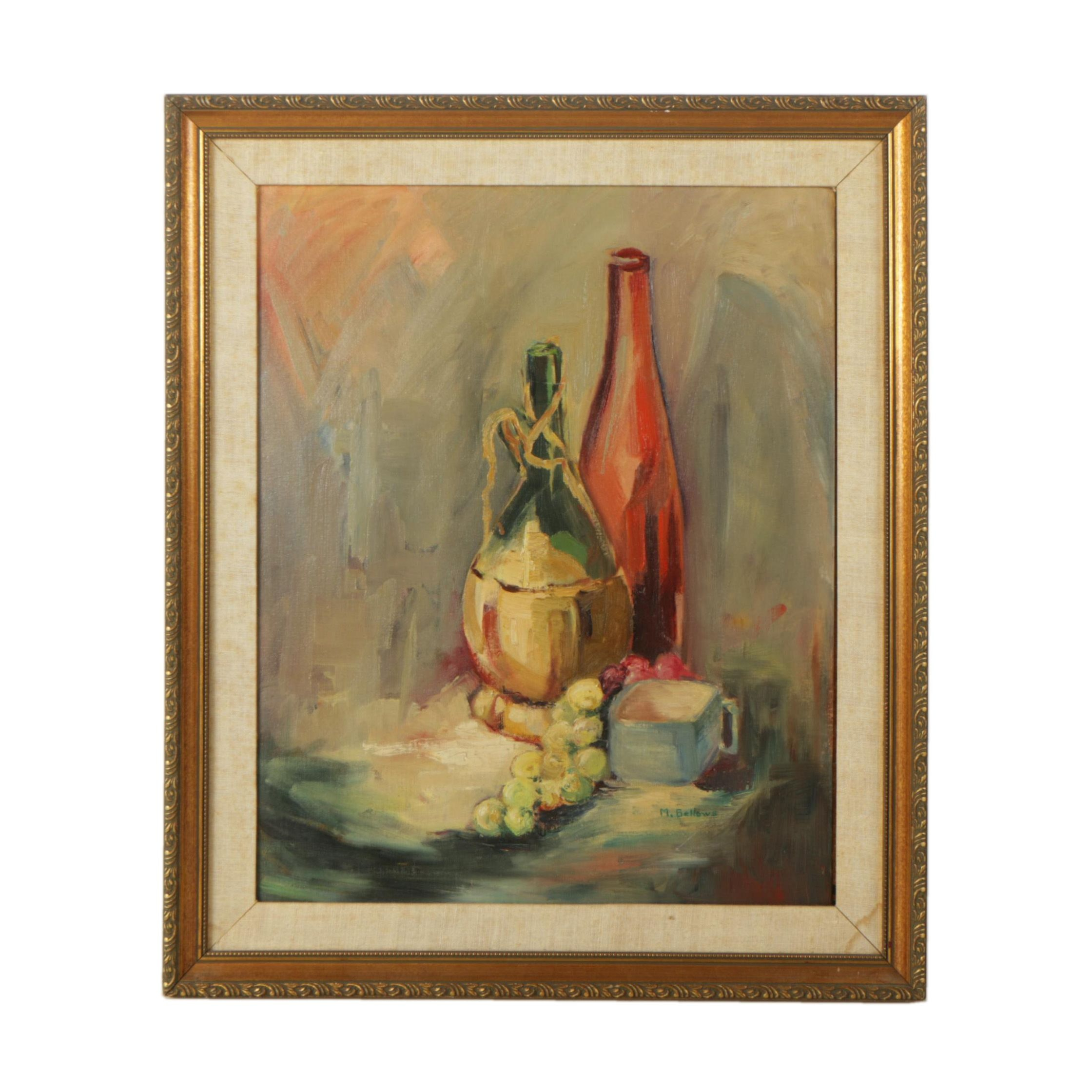 M. Bellows Oil Painting of a Still Life
