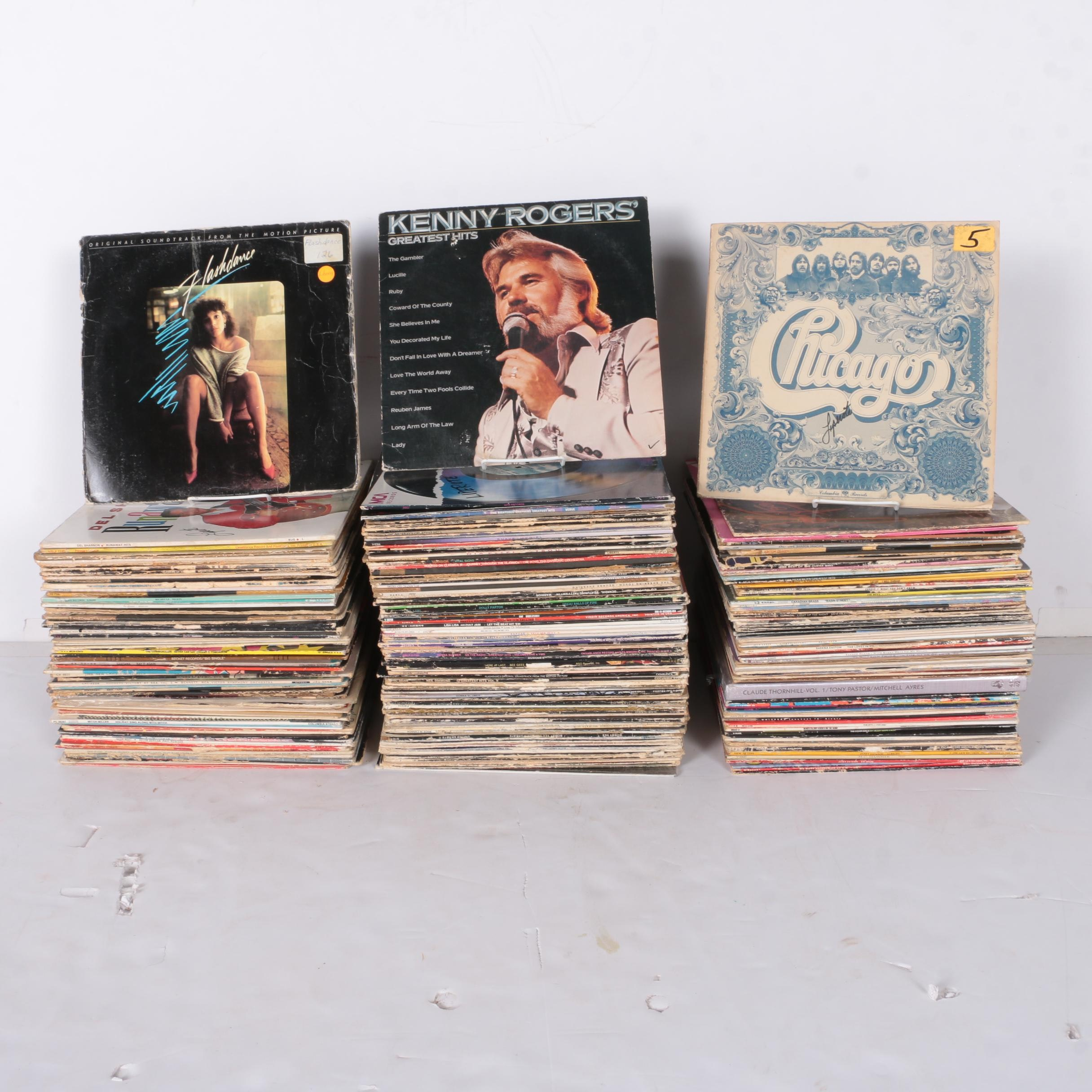 "Kenny Rogers, Chicago, Dolly Parton and Many Other 12"" 33 RPM Records"