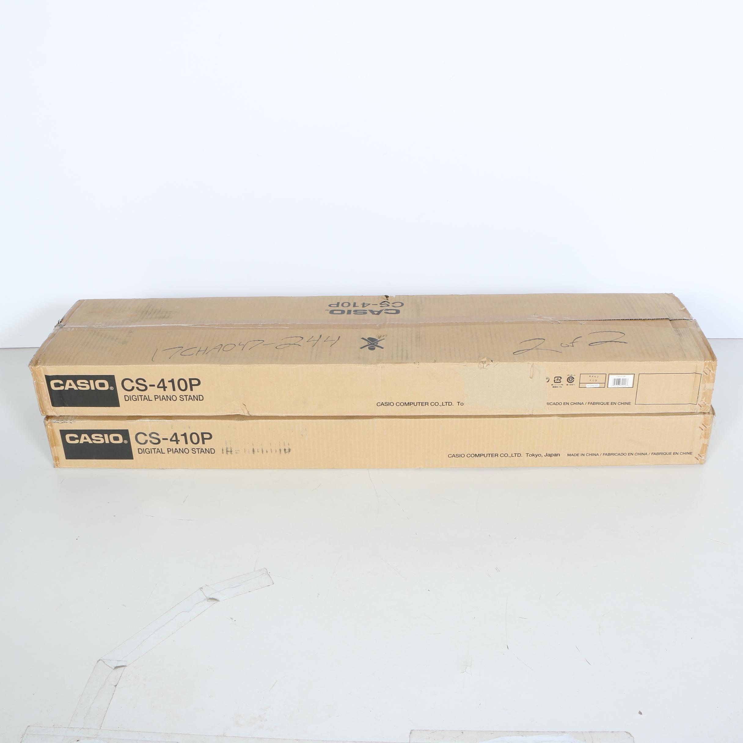 "Pair of Casio ""CS-410P"" Keyboard Stands"