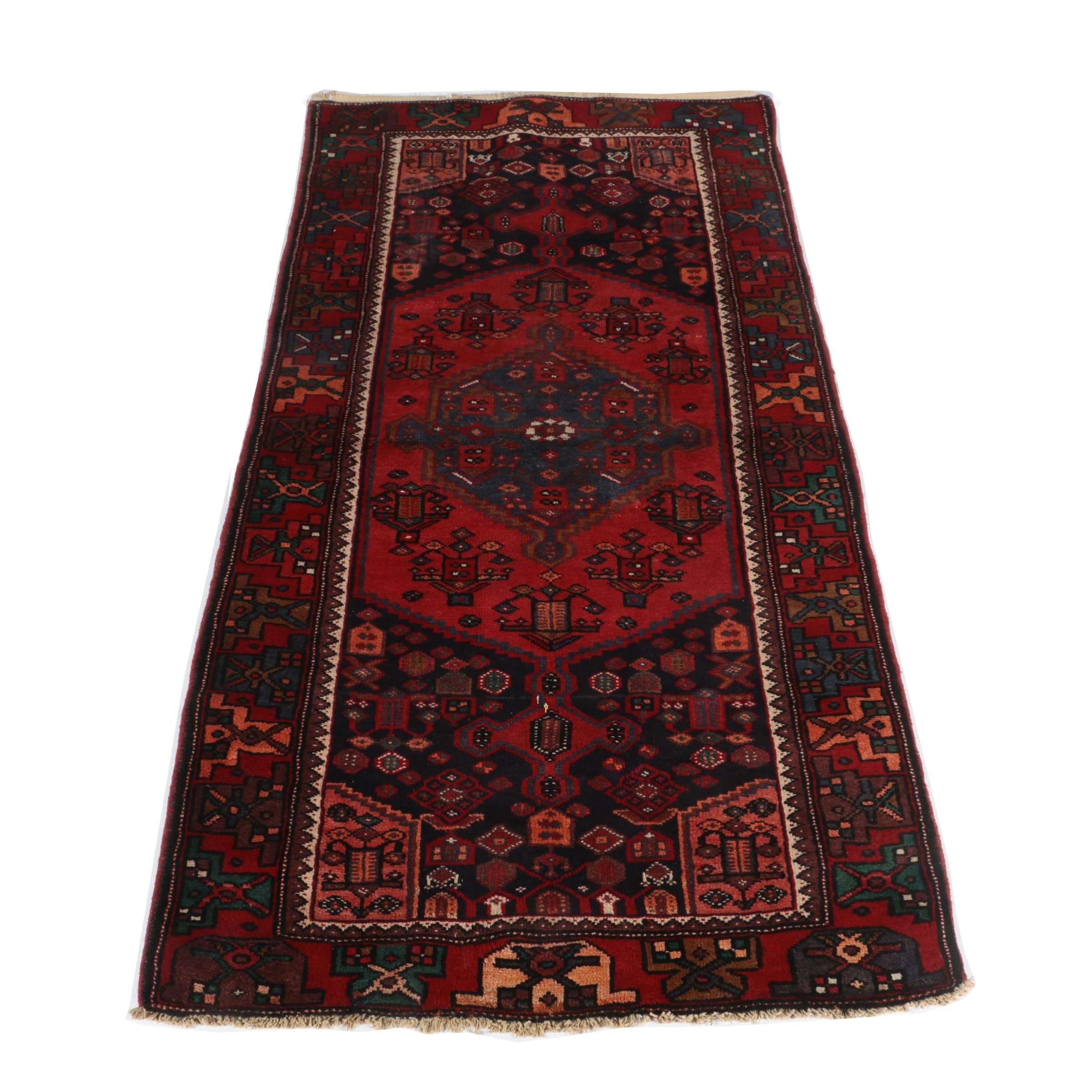 Hand-Knotted Persian Josheghan Area Rug