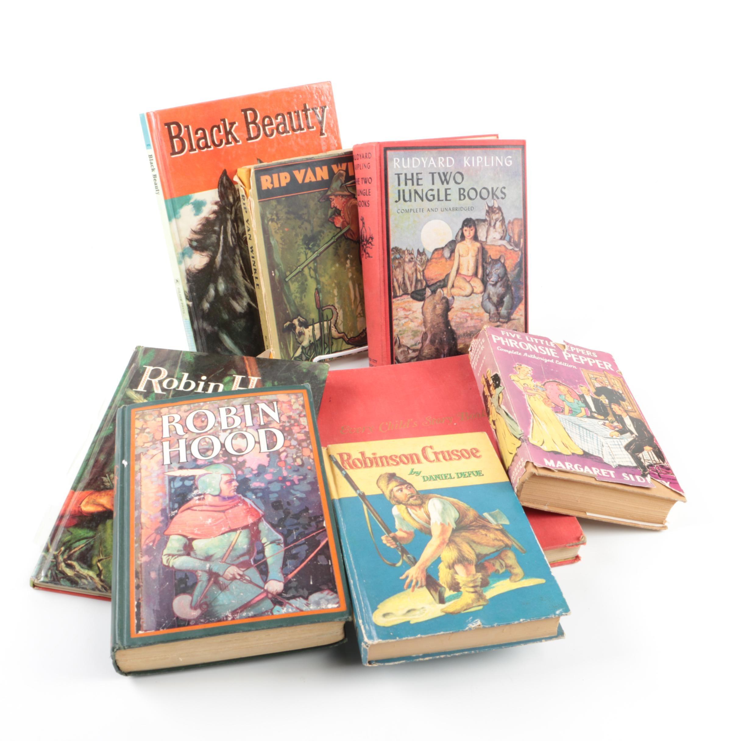 """Children's Books Including 1963 Golden Books """"Robin Hood"""" and """"Black Beauty"""""""