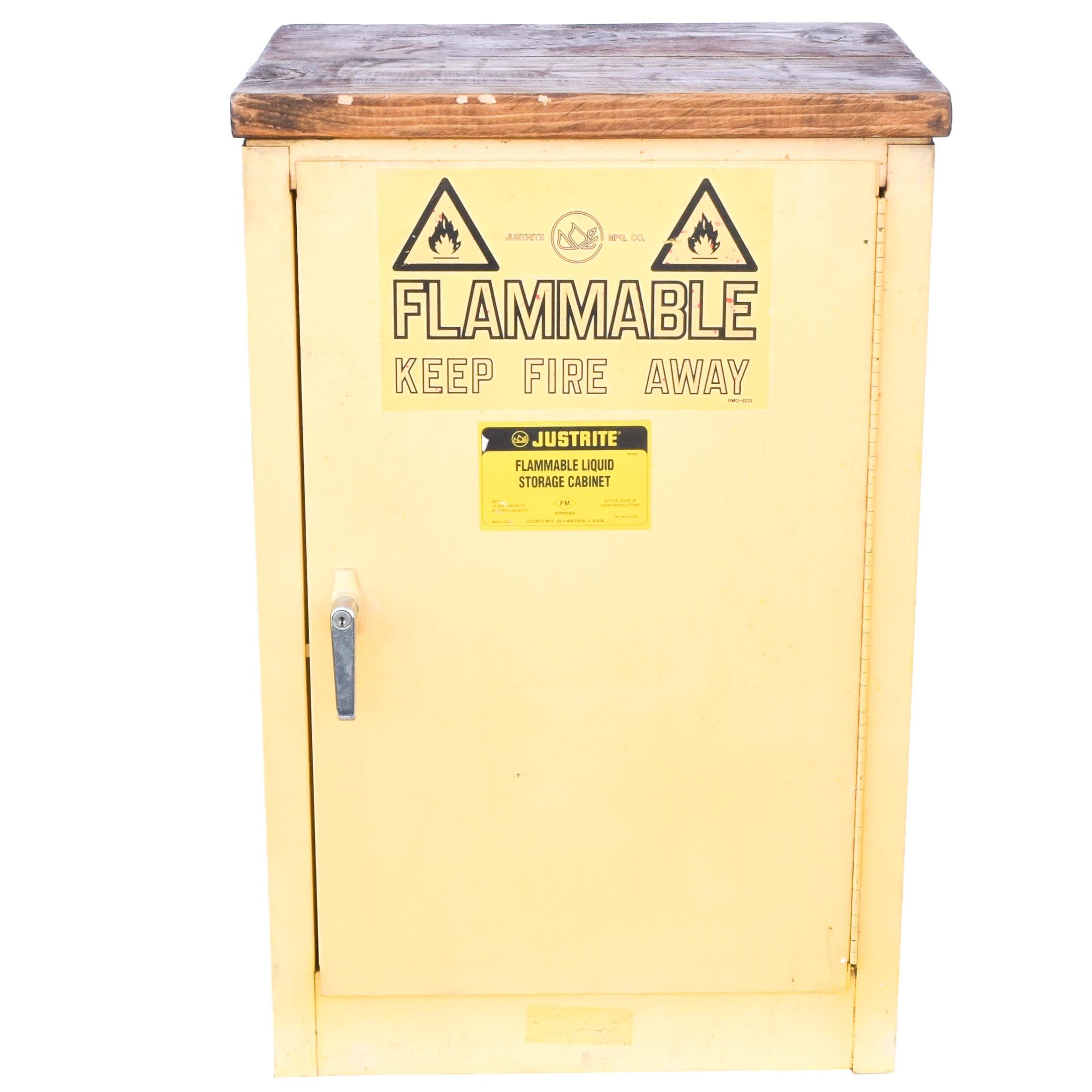 Repurposed Justrite Flammable Liquid Storage Cabinet
