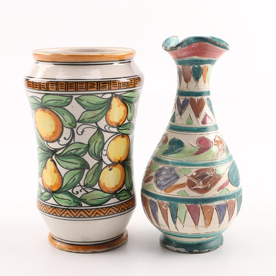 Handcrafted Italian Vases Ebth