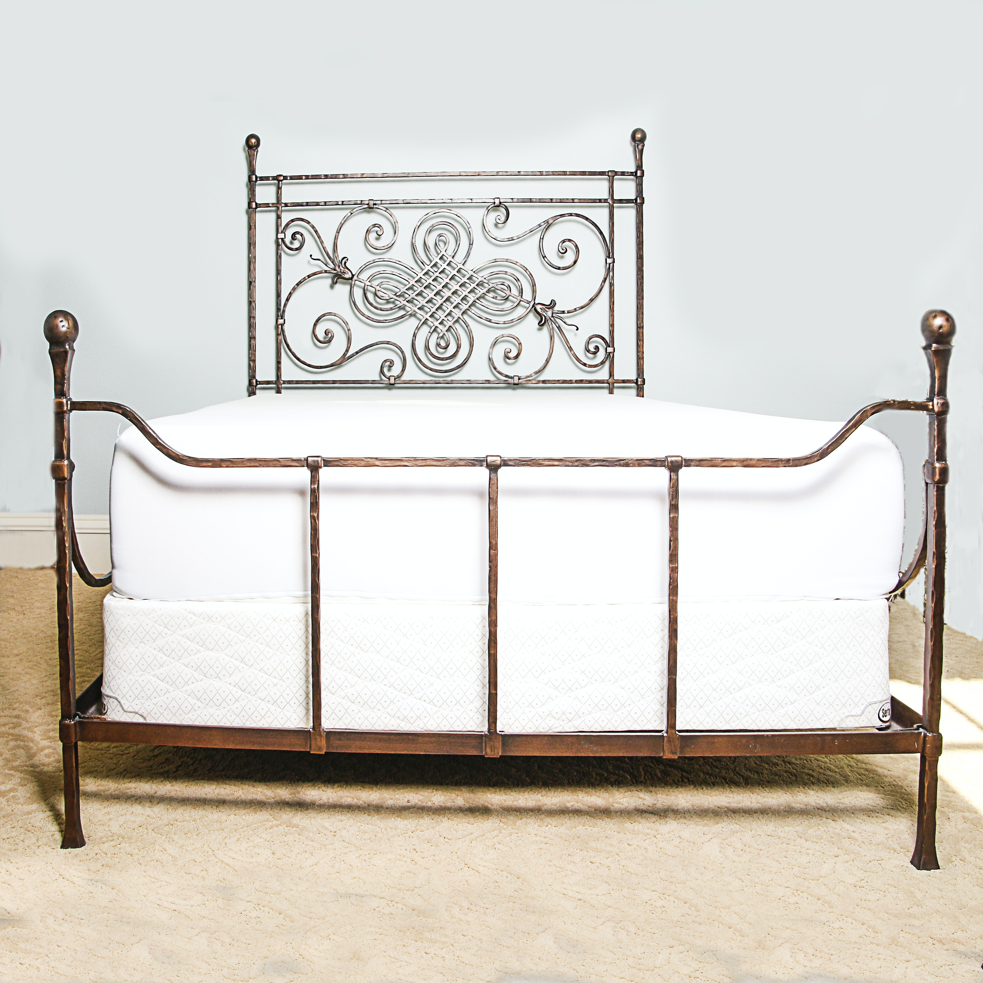 Wrought Metal Queen Size Bed
