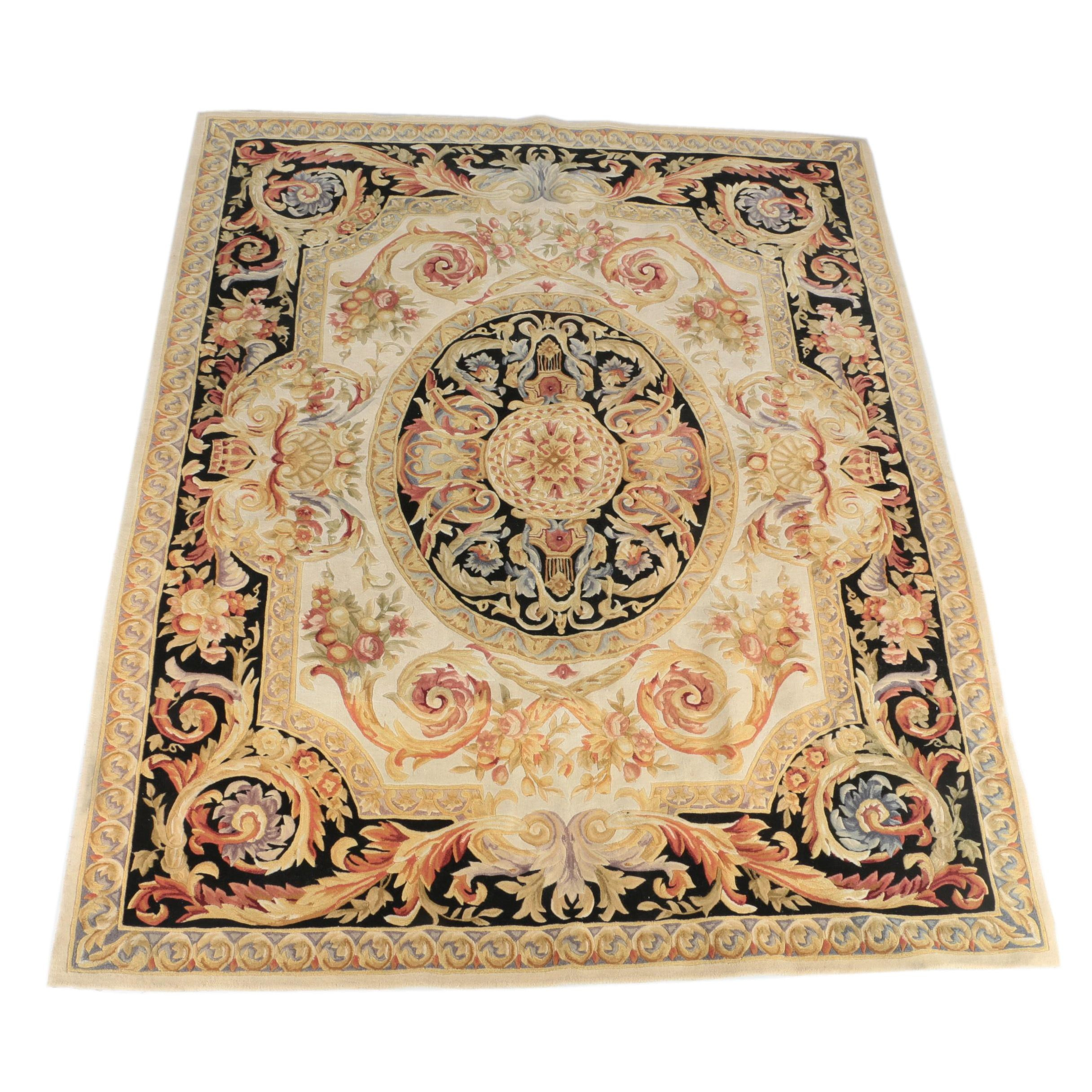 "Hand Tufted Chinese ""Savonnerie"" Carved Wool Area Rug by Safavieh"