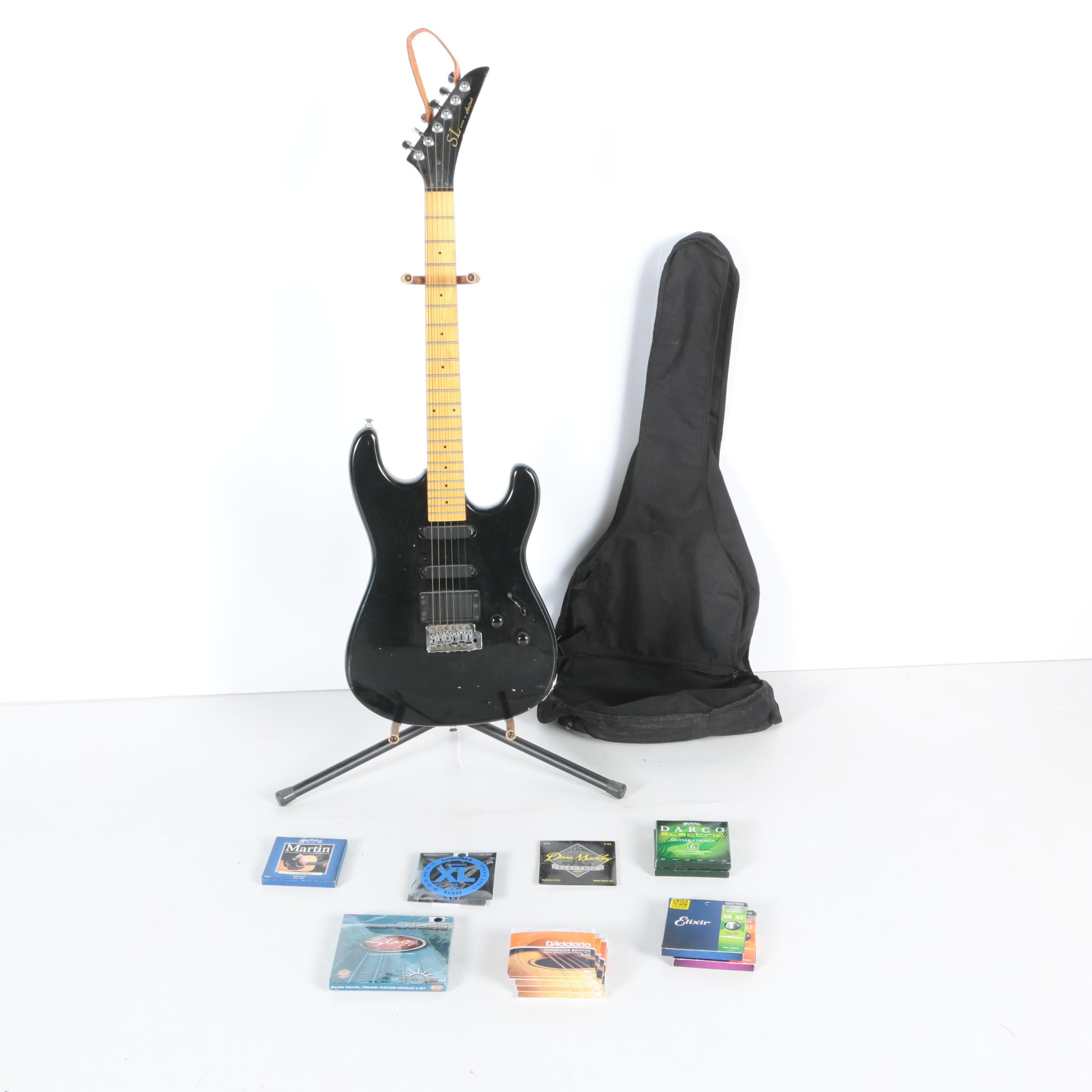 Aria Pro II SL-Series Electric Guitar with Gig Bag and Accessories