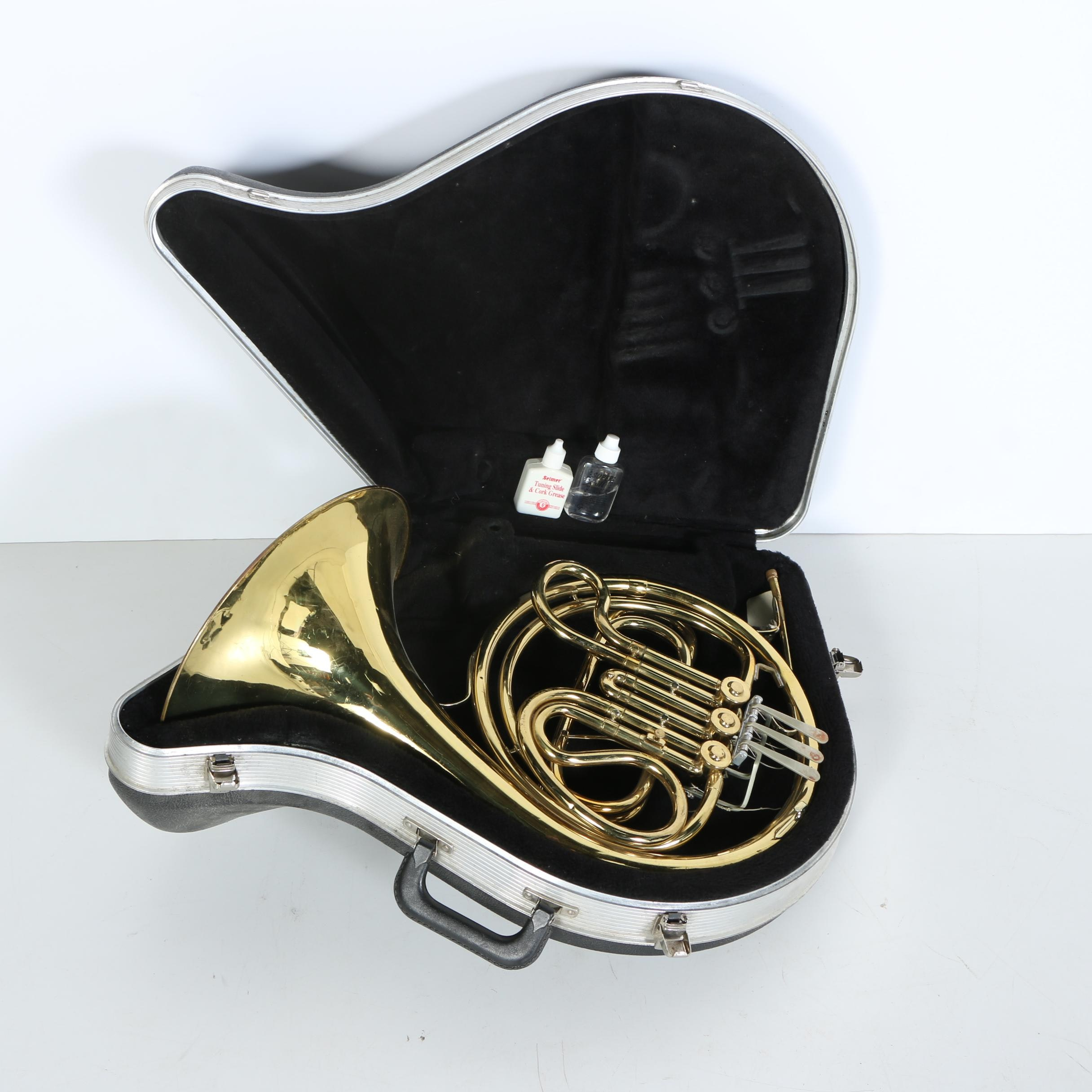 King French Horn With Hard Shell Case