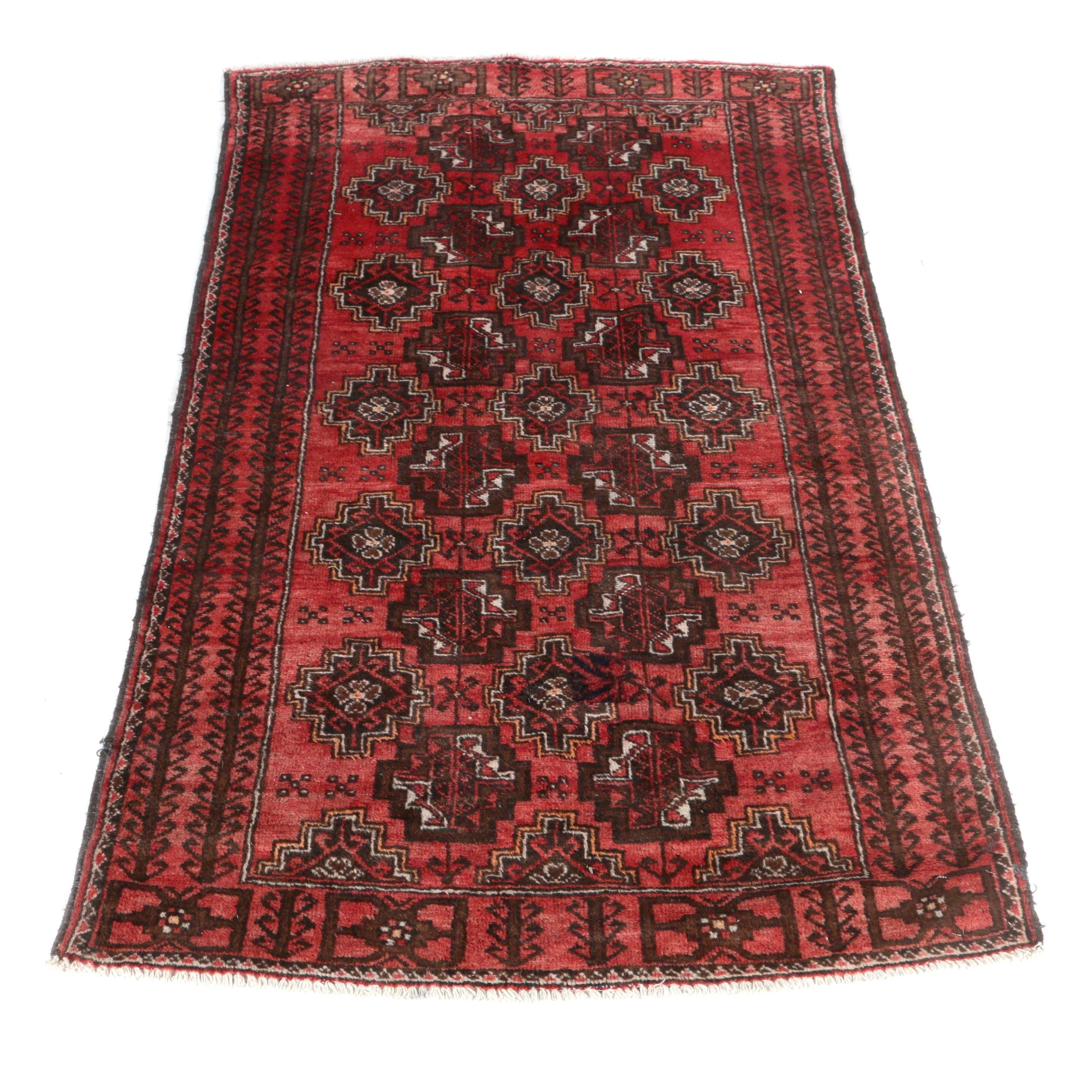 Hand-Knotted Persian Ferdos Wool Area Rug