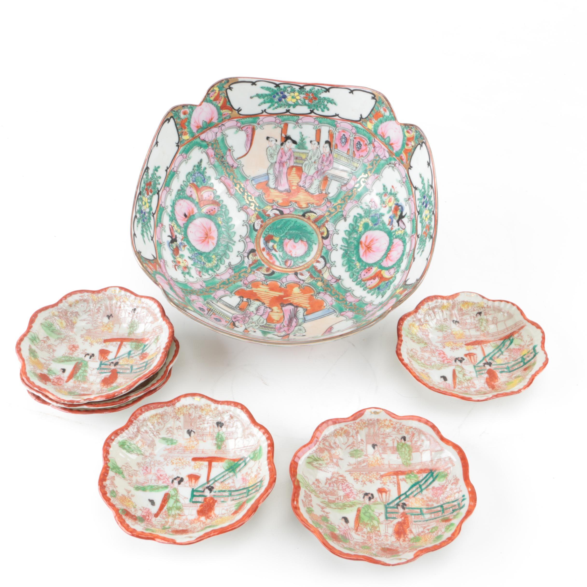 Vintage East Asian Porcelain Tableware