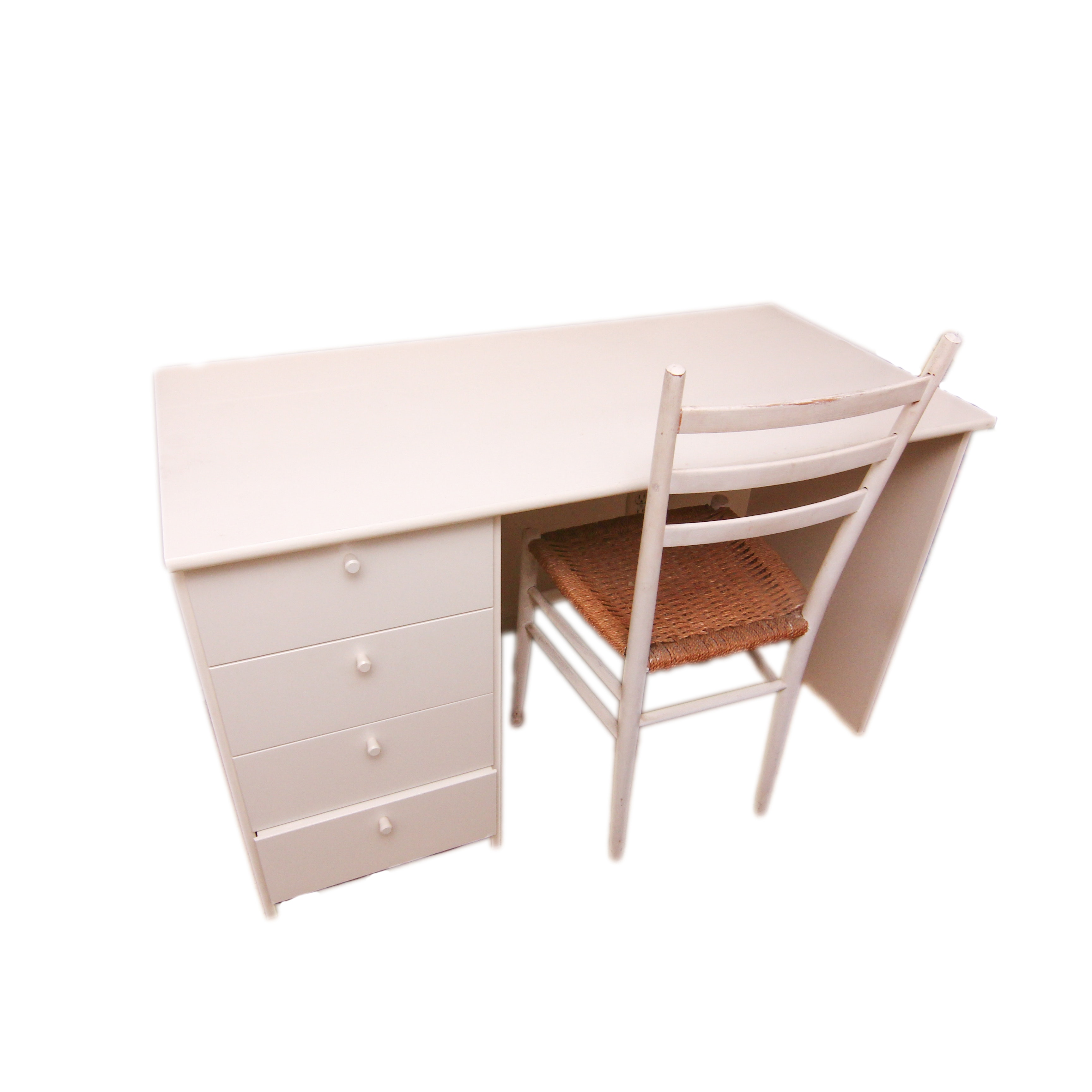 Laminate Desk and Ladderback Chair
