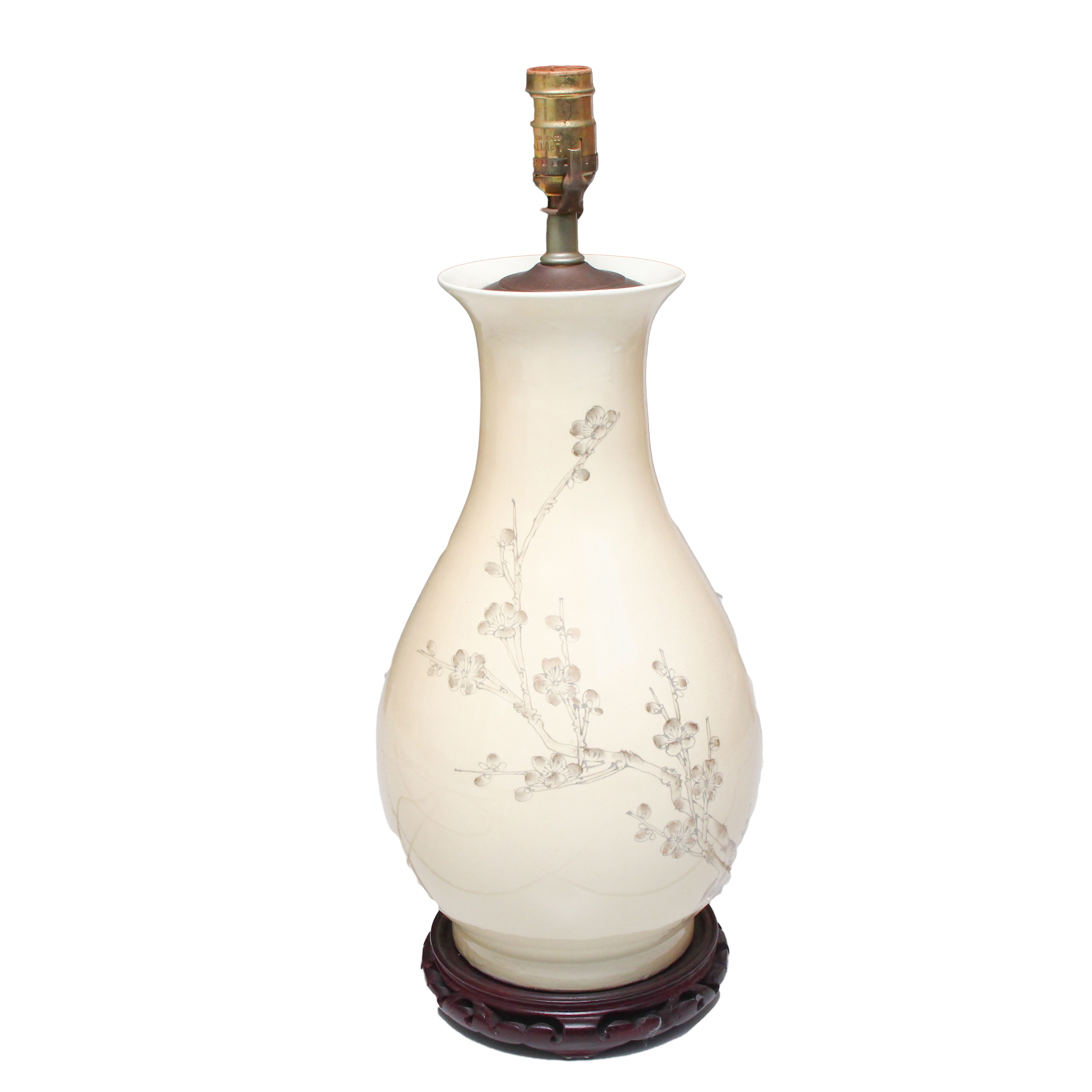 Asian Inspired Pear Shaped Table Lamp