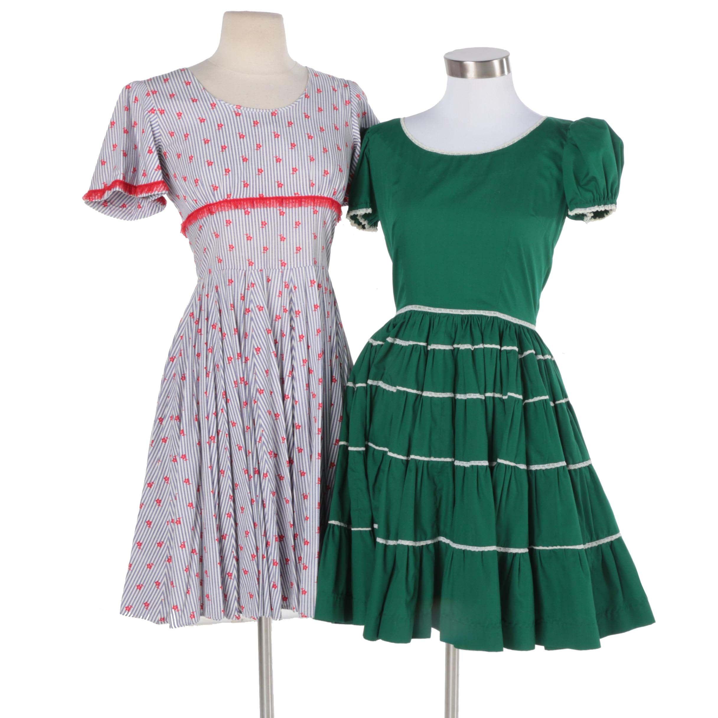 1960s Vintage Bespoke Square Dance Dresses
