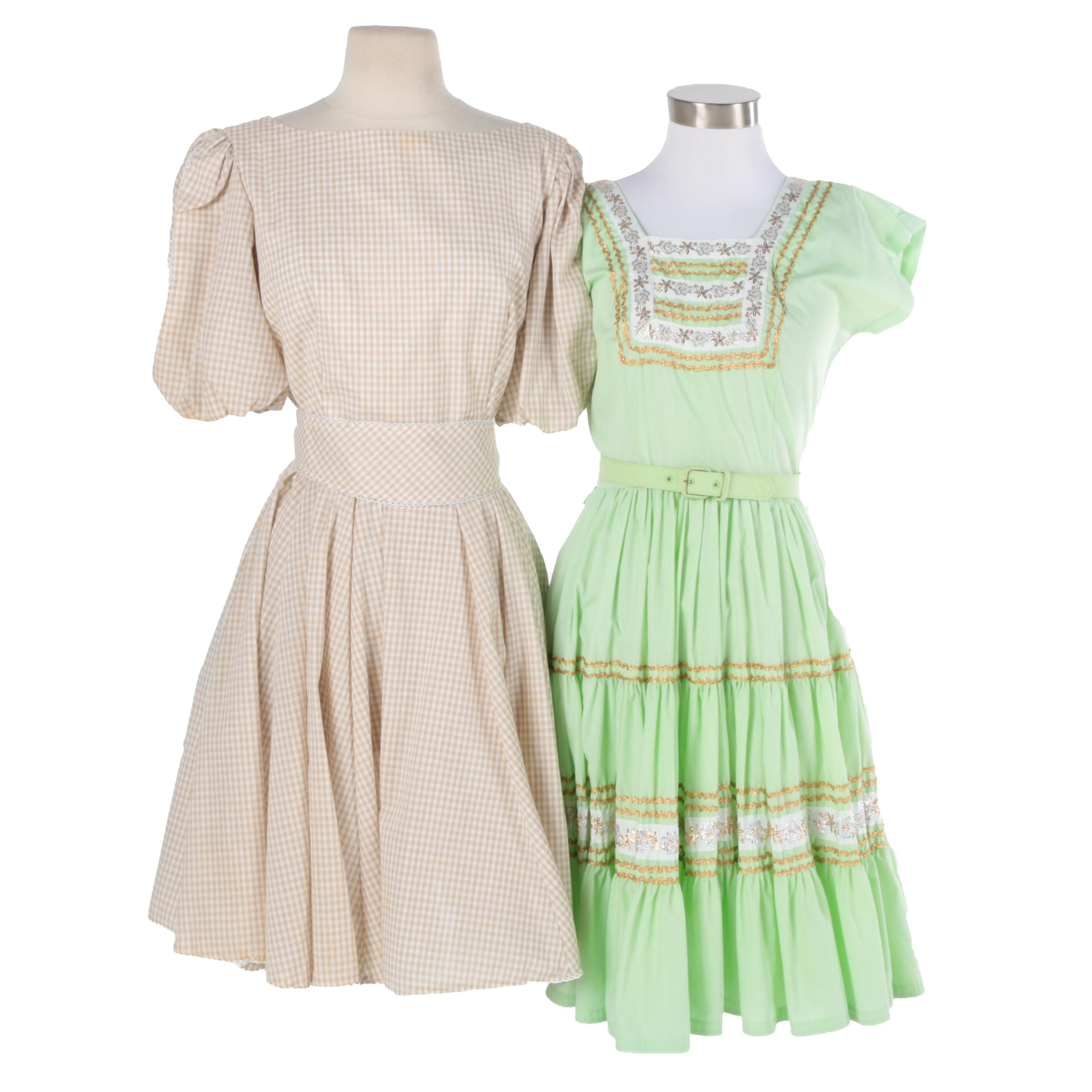 1960s Vintage Square Dancing Dresses Including Bettina of Miami
