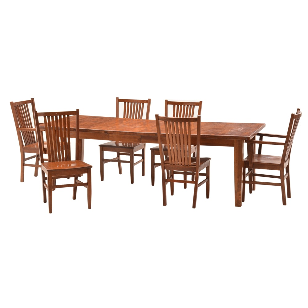Contemporary Mission Style Dining Set ...