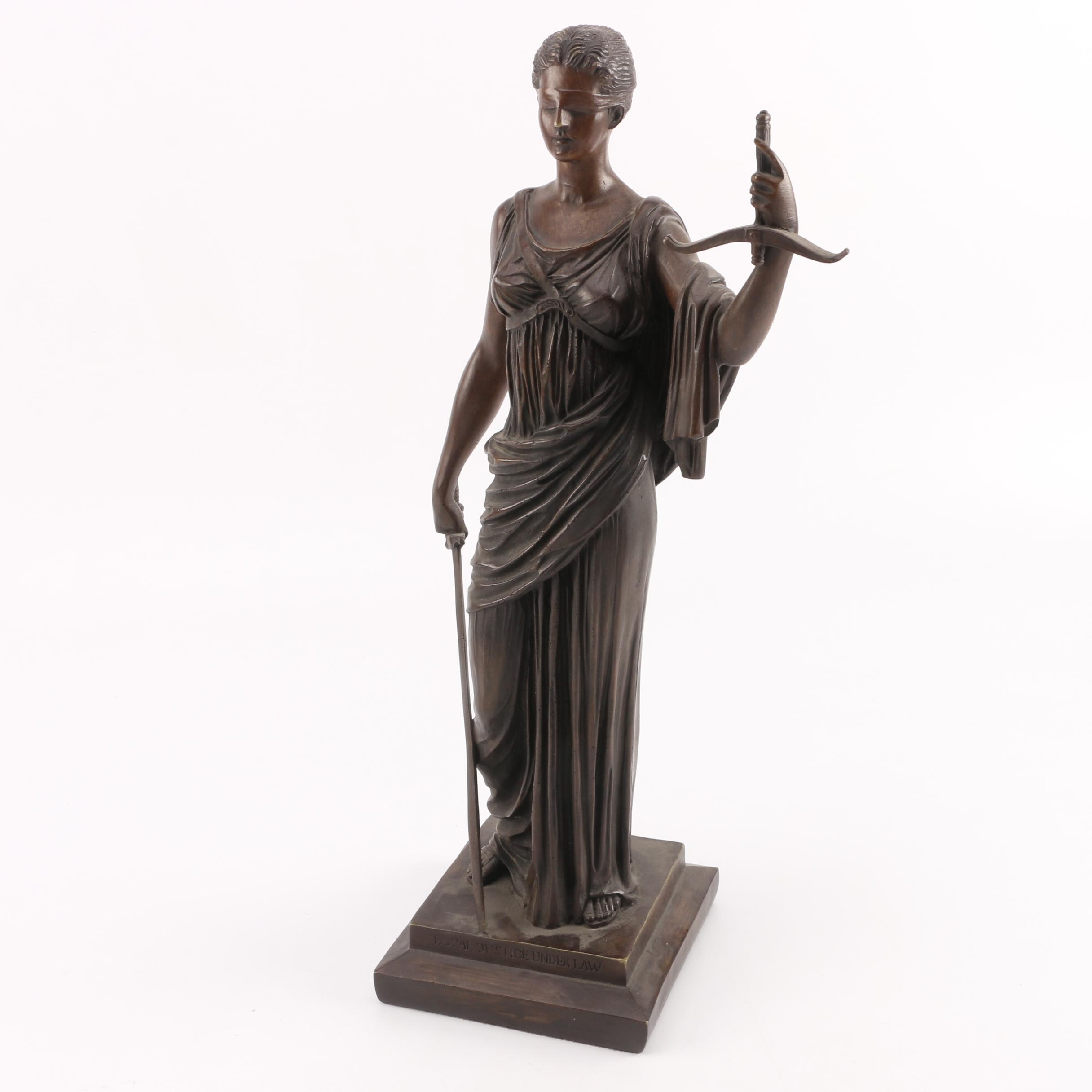 "Bronze ""Blind Justice"" Figurine"