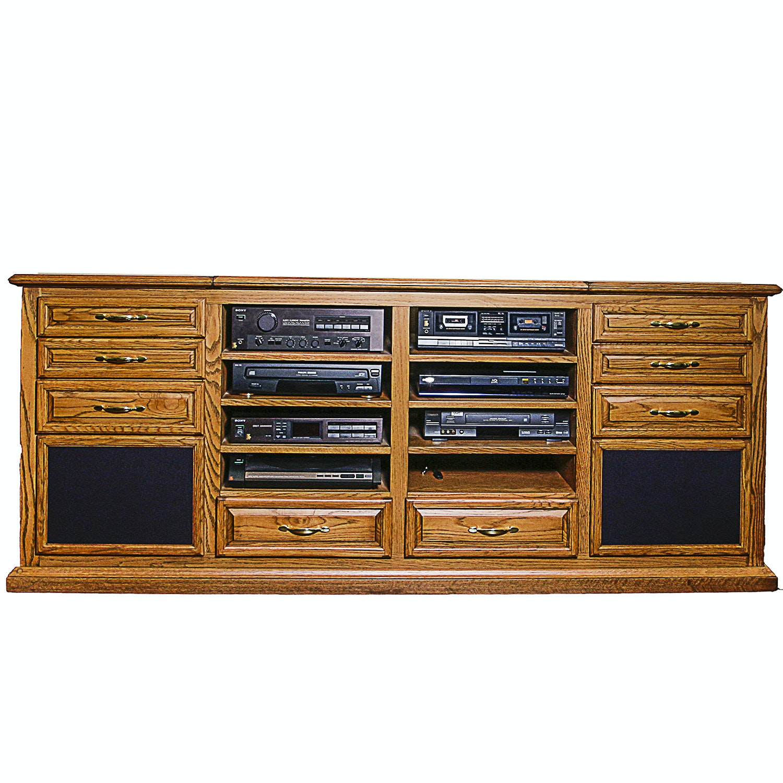 Custom Entertainment Cabinet With AV Components ...
