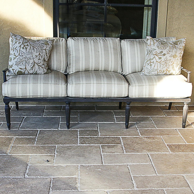 Striped Patio Sofa