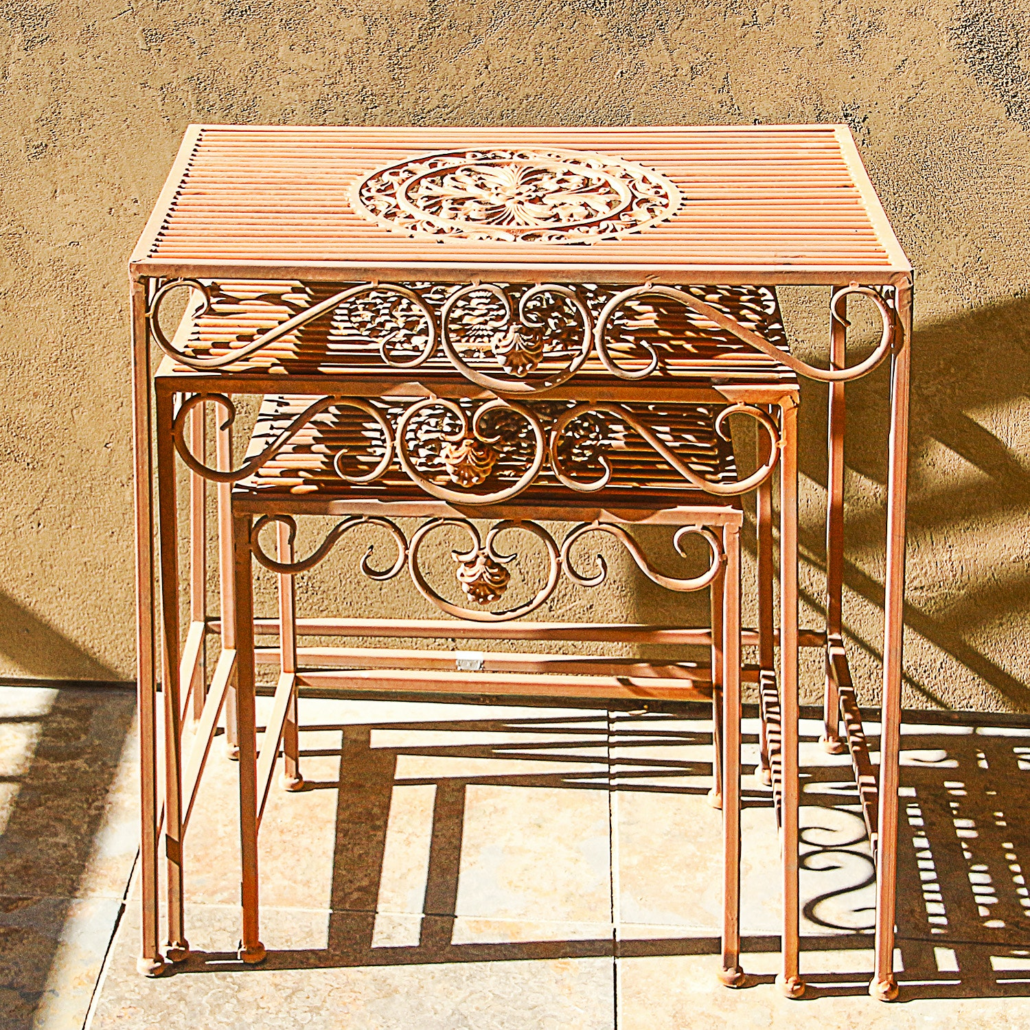 Wrought Iron Nesting Table Set