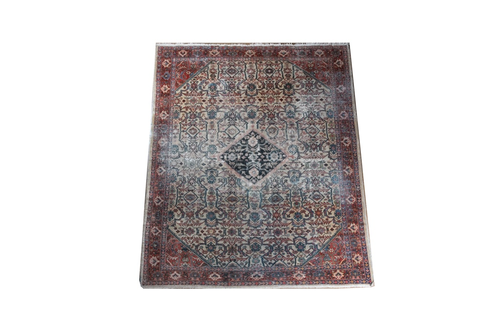 Large Hand-Knotted Persian Area Rug
