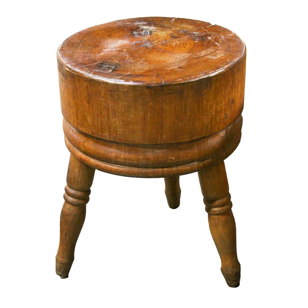 Superbe Vintage Maple Butcher Block Side Table ...