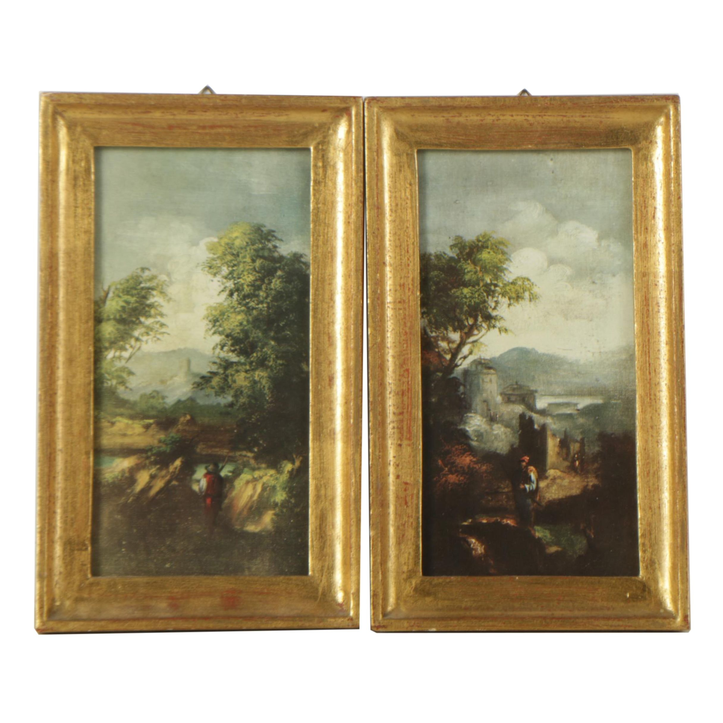 Offset Lithographs of Italian Landscapes