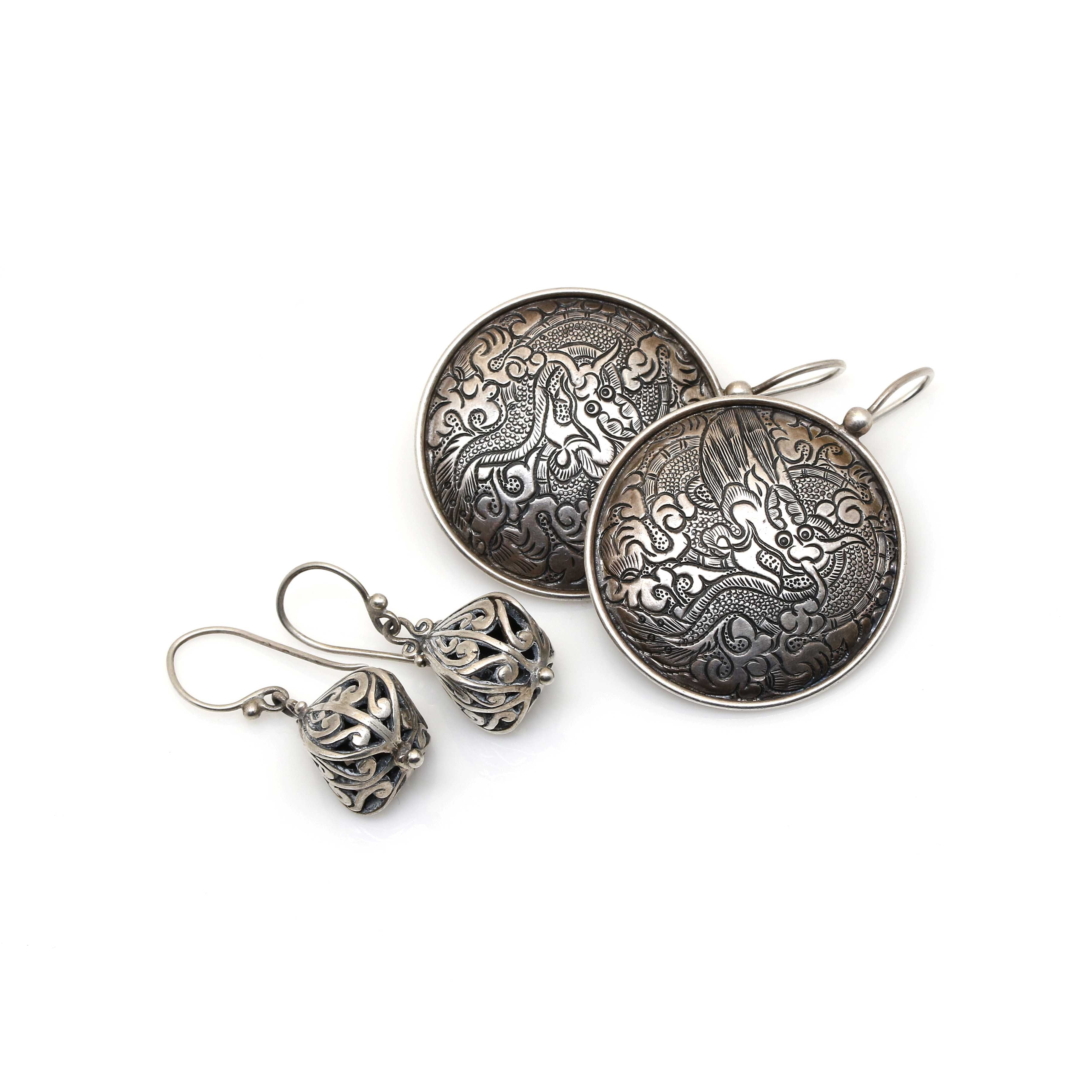 Sterling Silver Asian Inspired Earring Selection