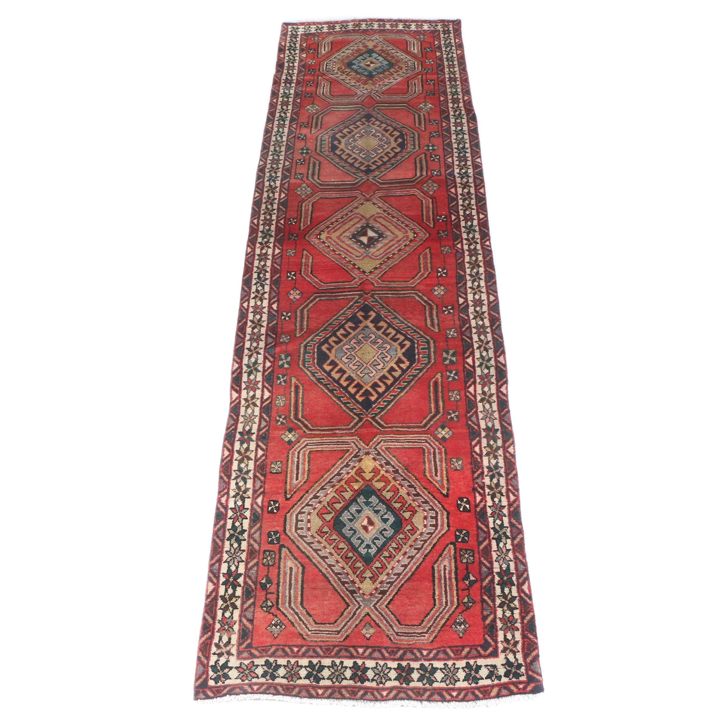 Hand-Knotted Caucasian Kazak Carpet Runner
