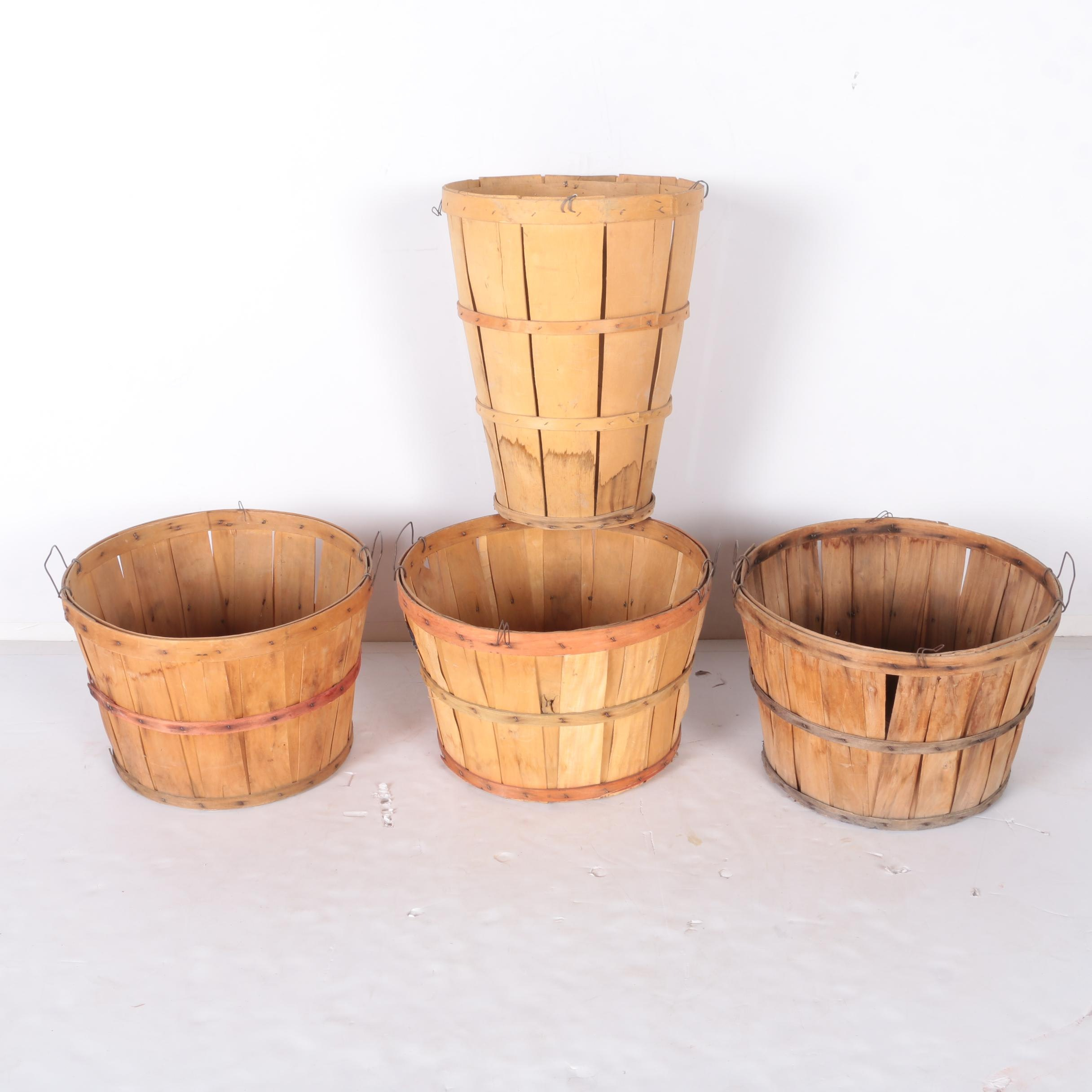 Wooden Bushel and Hamper Bushel Baskets