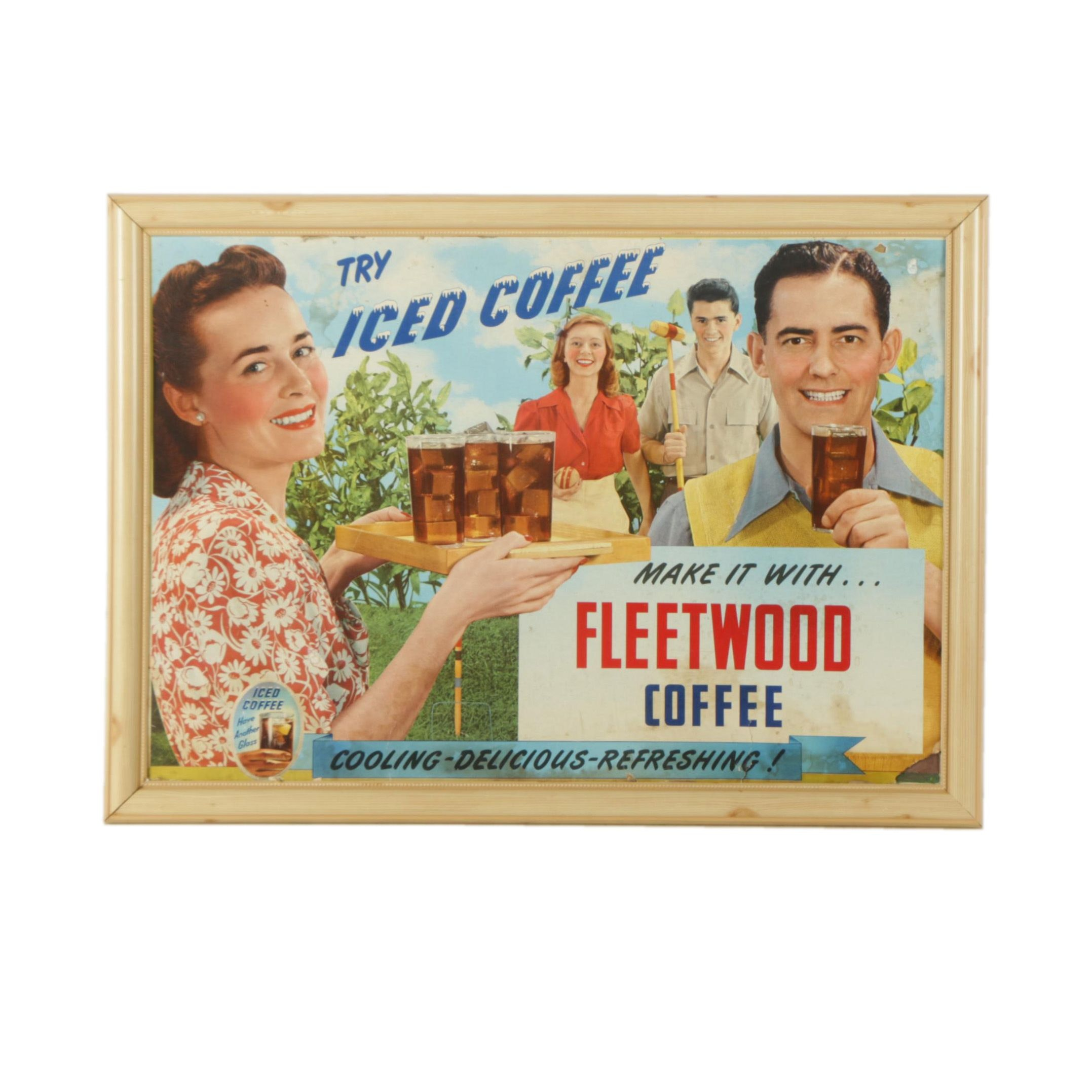 Circa 1950s Advertising Counter Display for Fleetwood Coffee