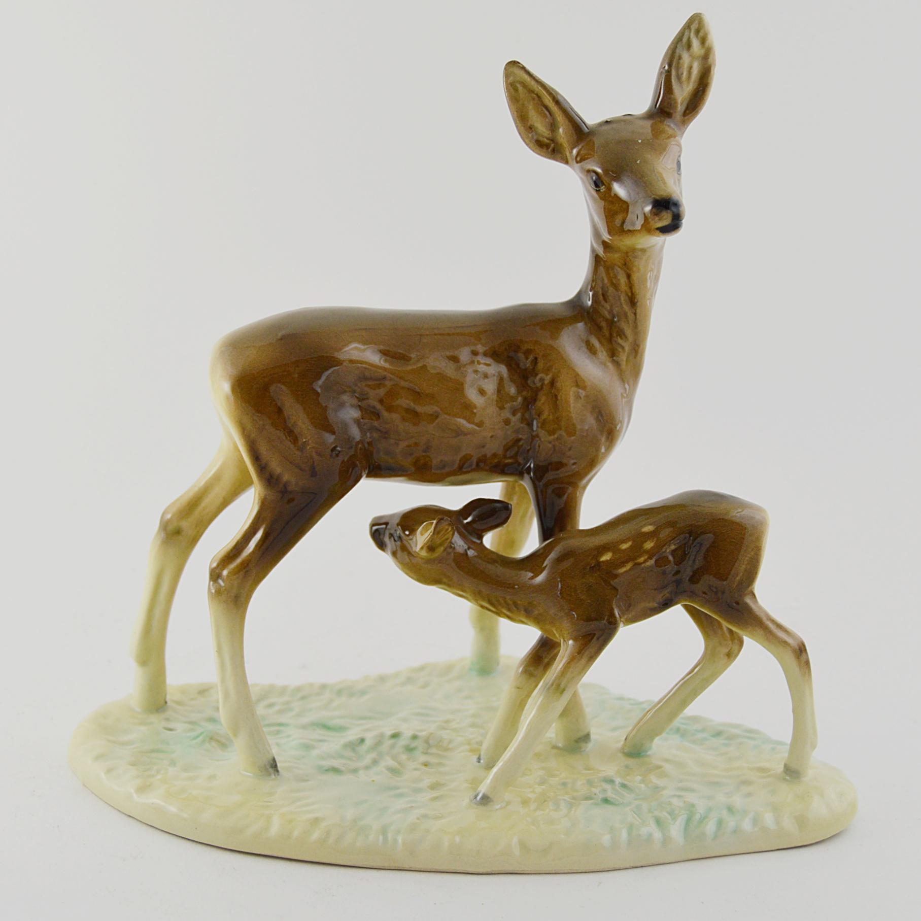 Vintage Porcelain Figure Deer Figurines