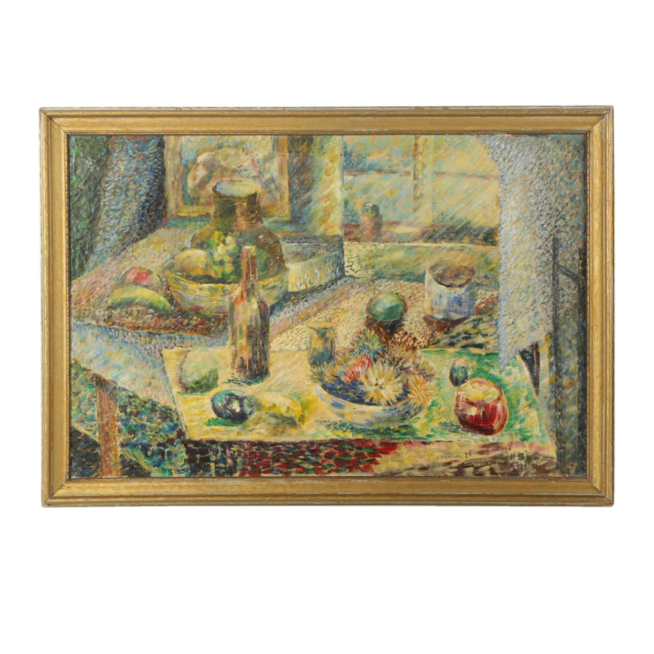 William Corasick Oil Painting on Canvas Still Life