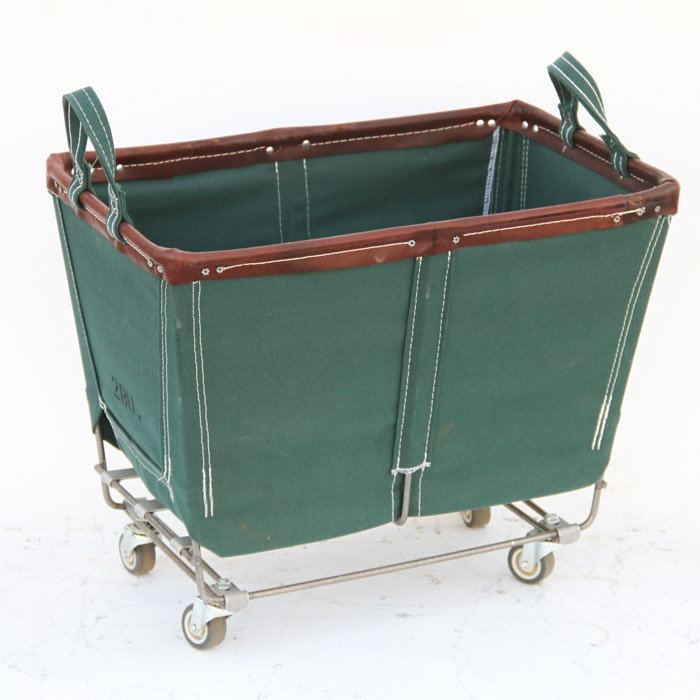 Restoration Hardware Rolling Laundry Cart