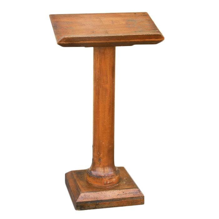 Antique Wood Podium
