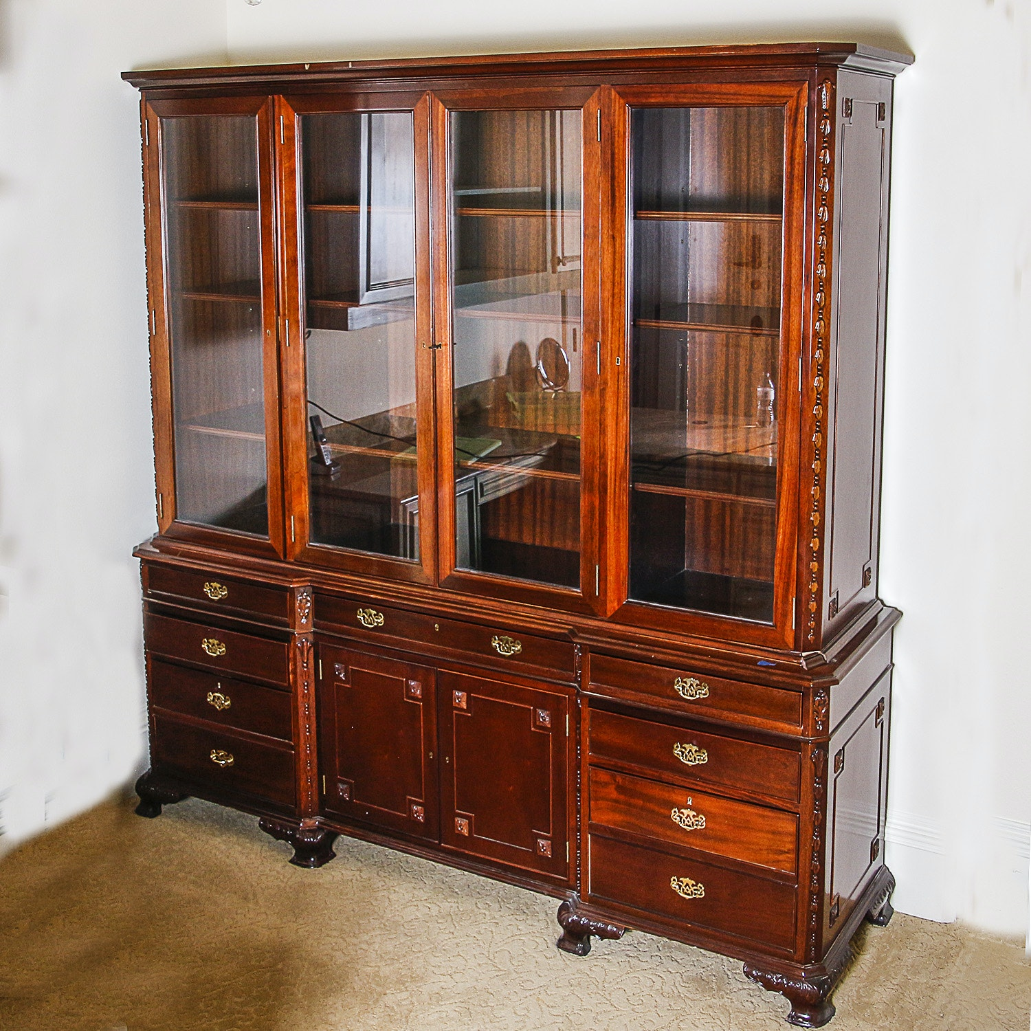Georgian Style China Cabinet or Bookcase