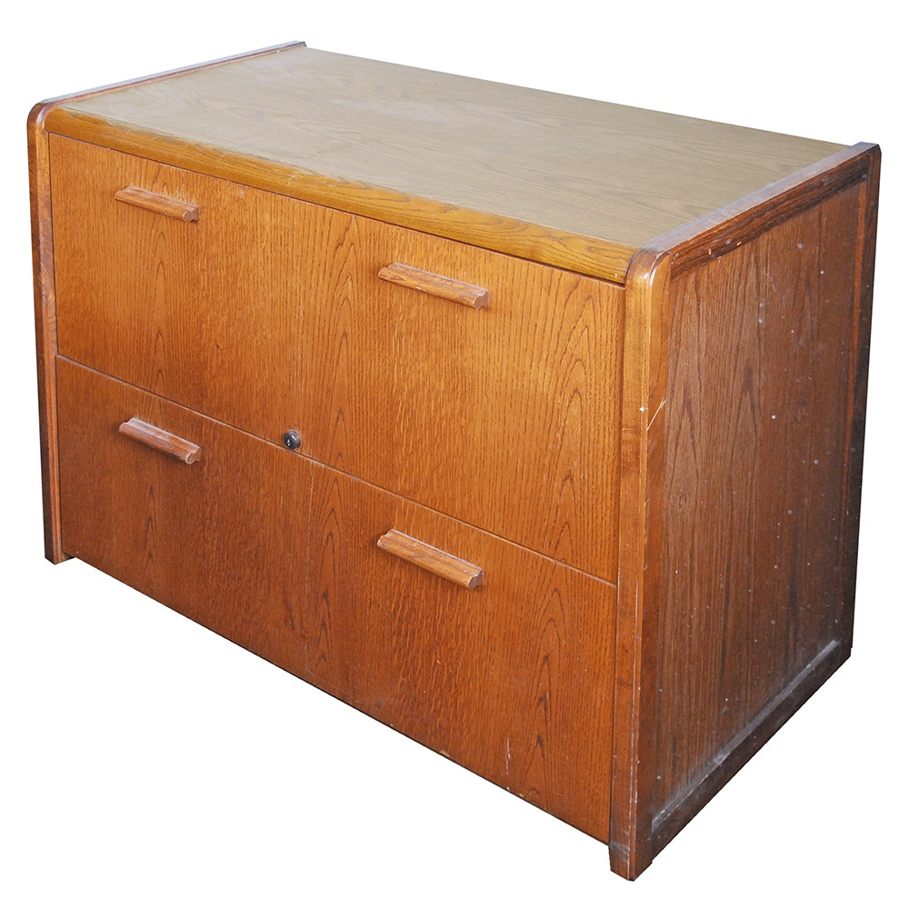 Vintage Two Drawer File Cabinet by K & K