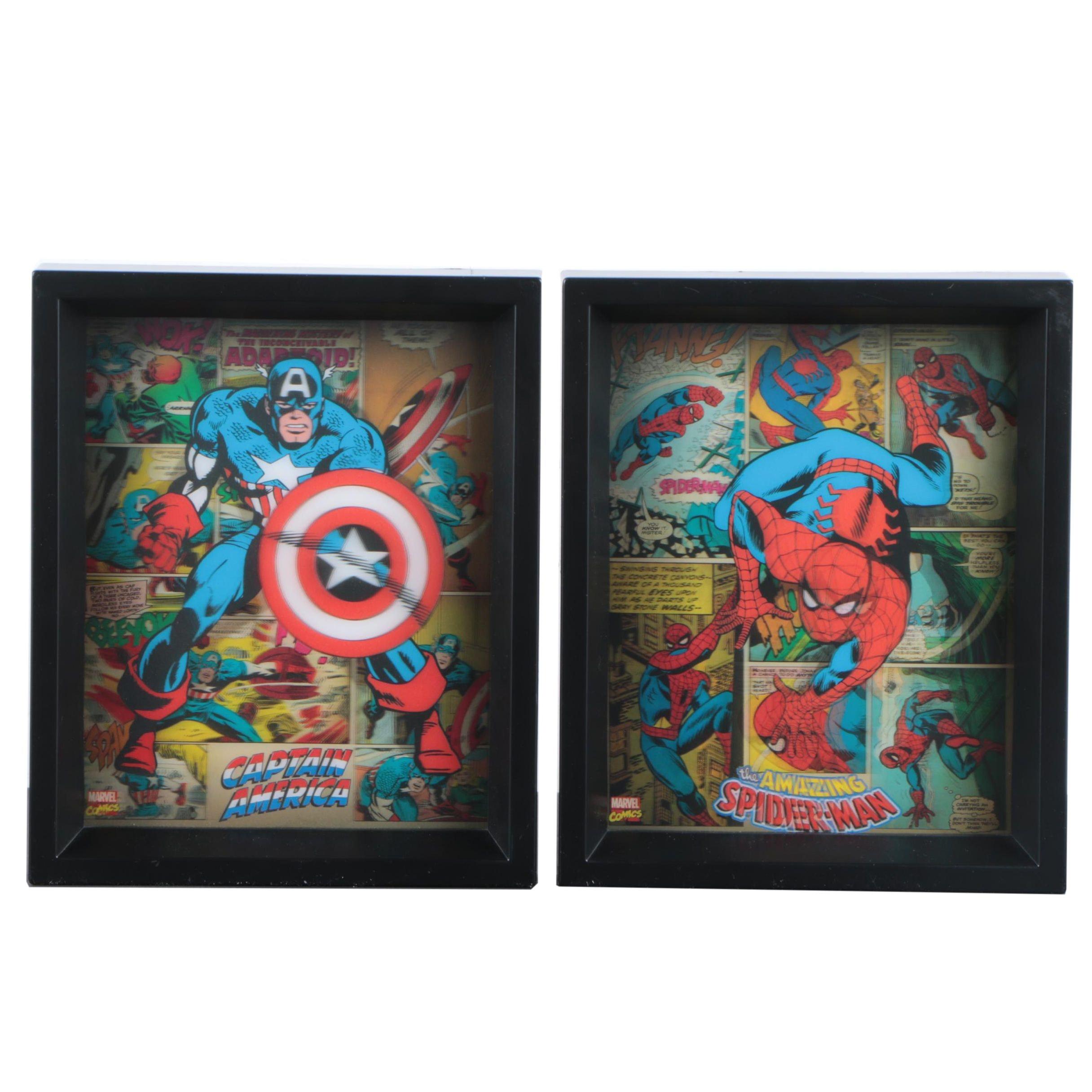 Marvel Comics Lenticular Wall Art of Spider-Man and Captain America