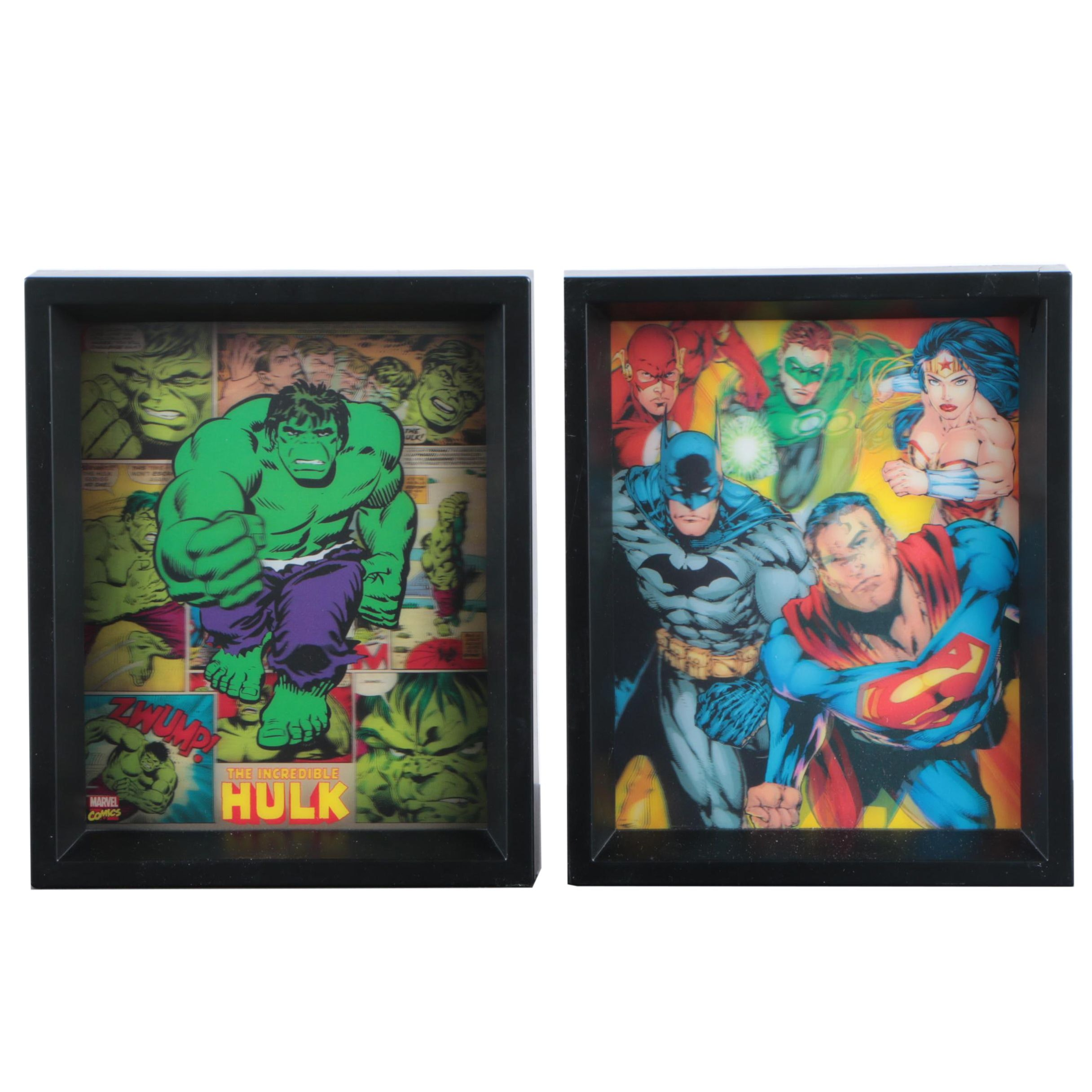 Pyramid America Lenticular Wall Art of the Justice League and the Hulk