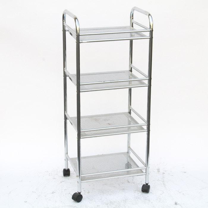 Chrome Rolling Kitchen Cart