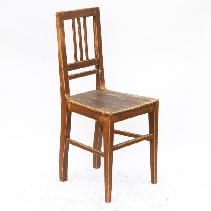 Antique Oak School Chair
