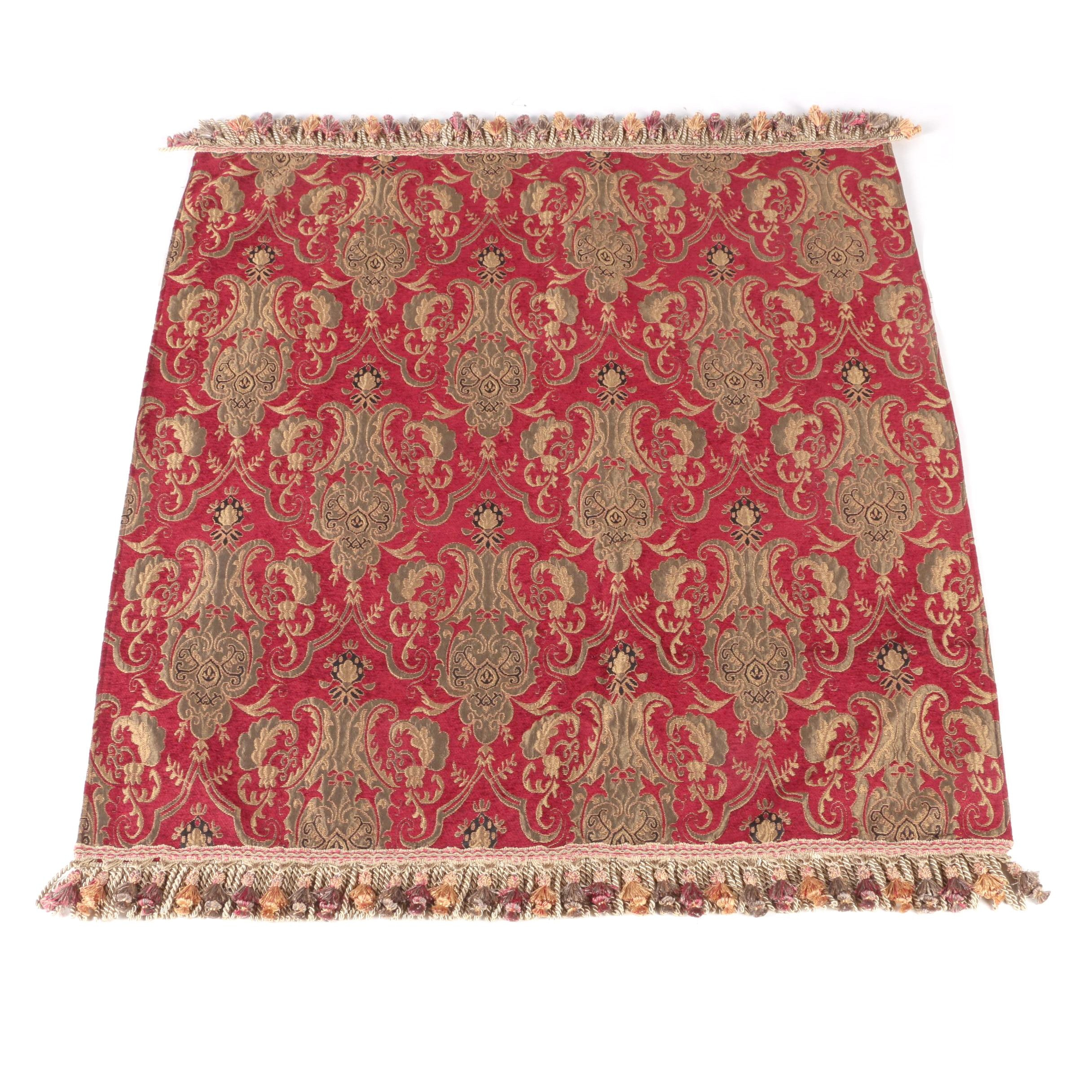 Woven Red and Gold Tone Tapestry