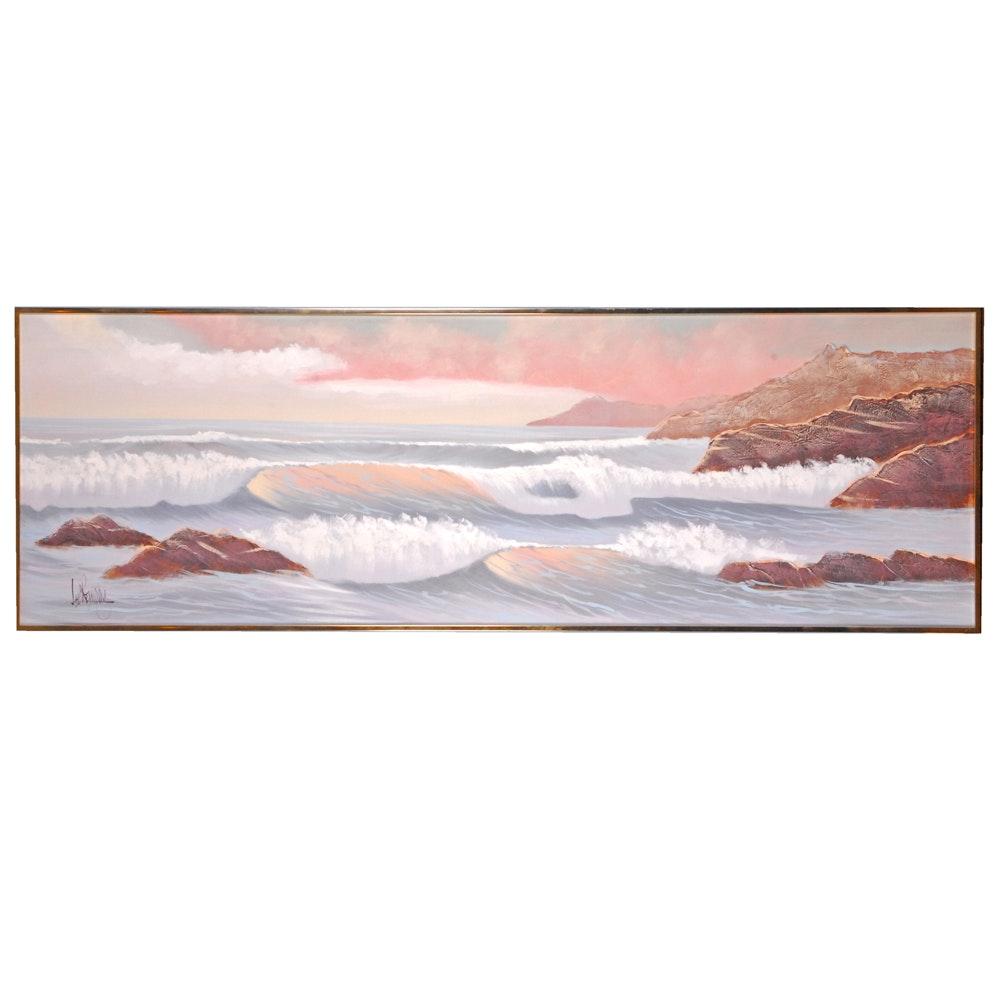 Lee Reynolds Oil Painting on Canvas of Ocean Waves