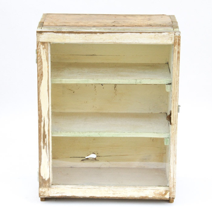 Upcycled Crate Display Cabinet