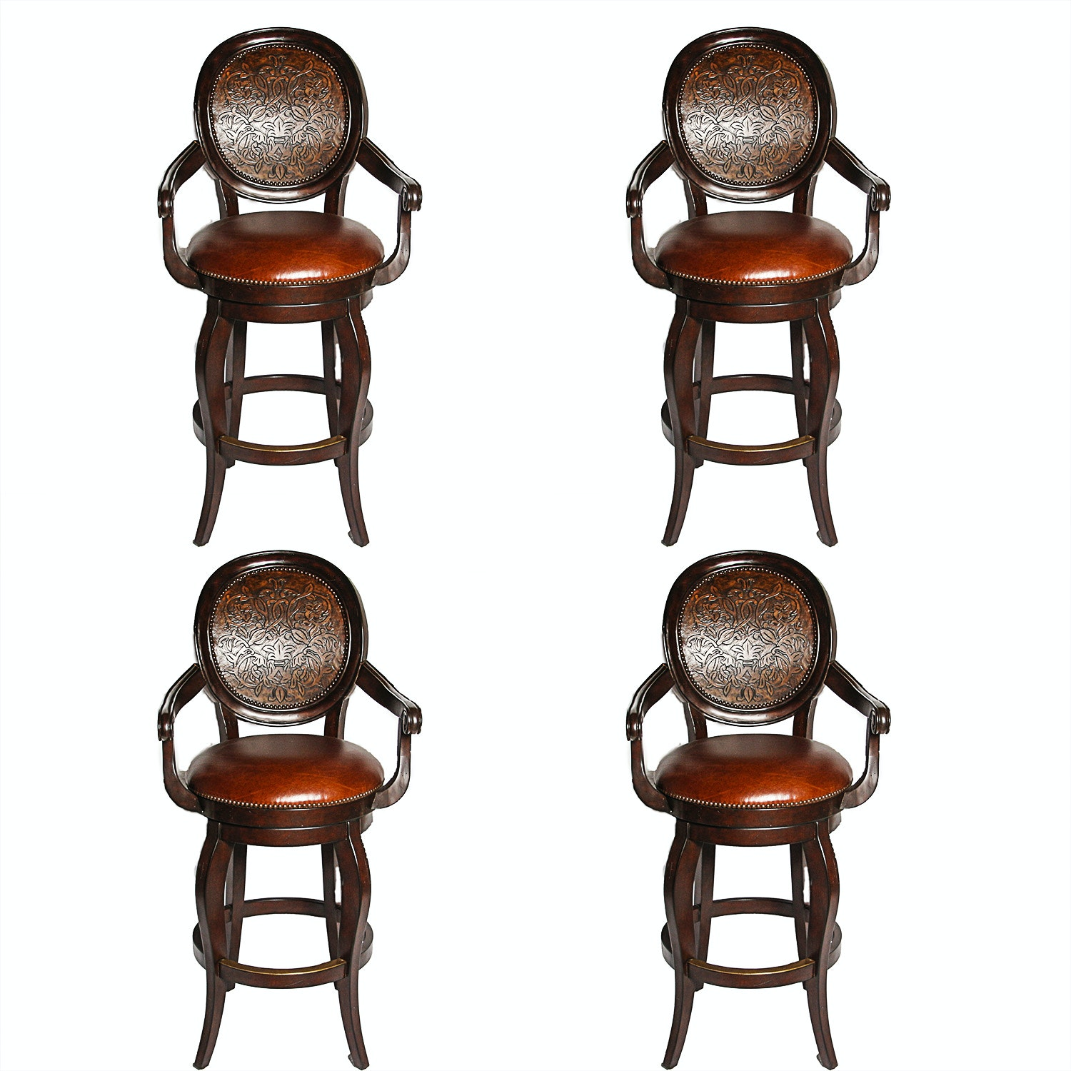 Set of Queen Anne Style Bar Stools