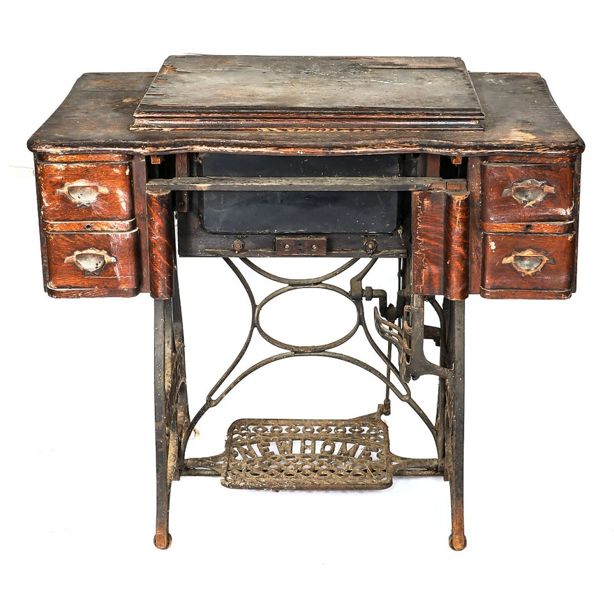 Fabulous Sewing Machine Desk Interesting Antique New Home Sewing Home Interior And Landscaping Transignezvosmurscom