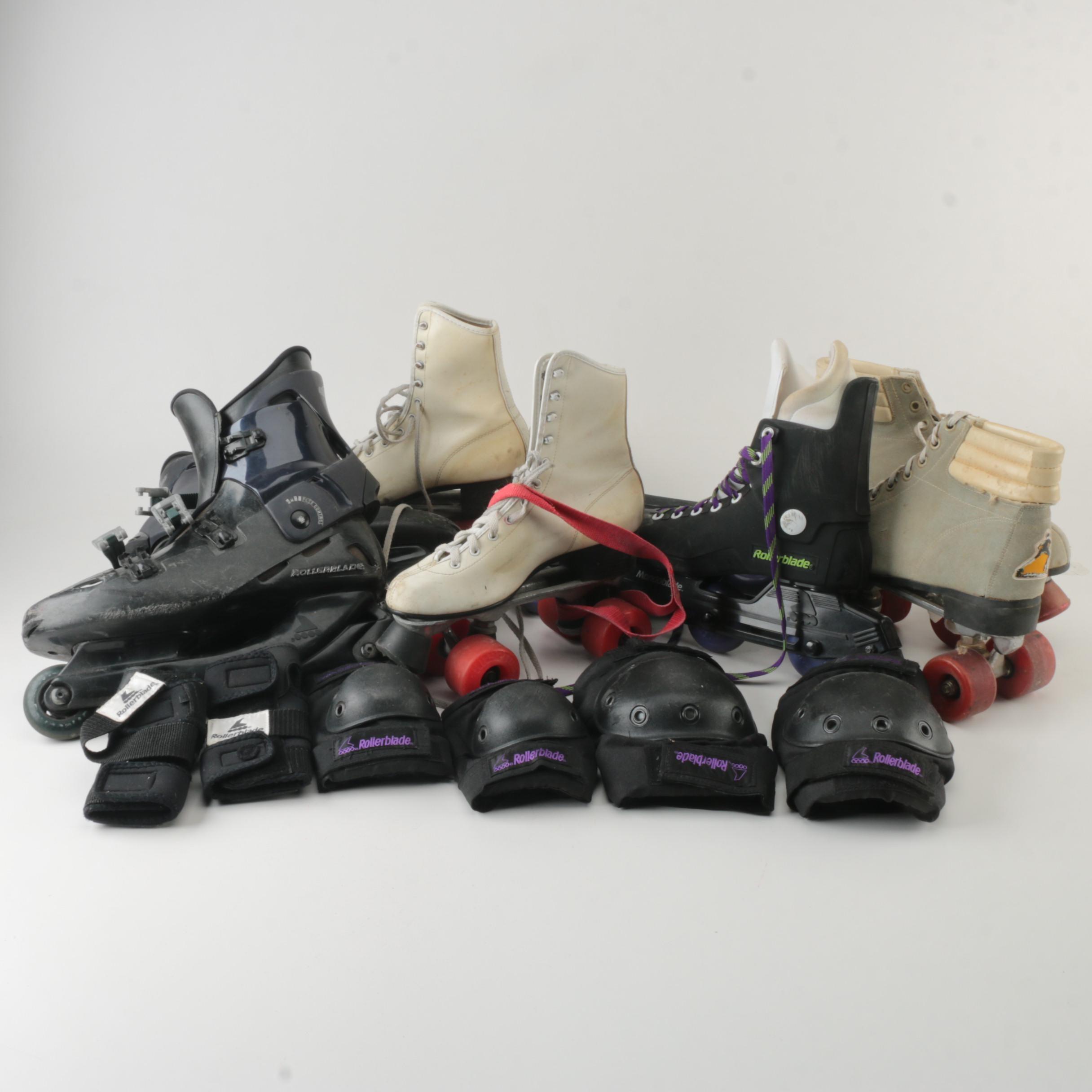 Roller Blade, Roller Skates, and Pads