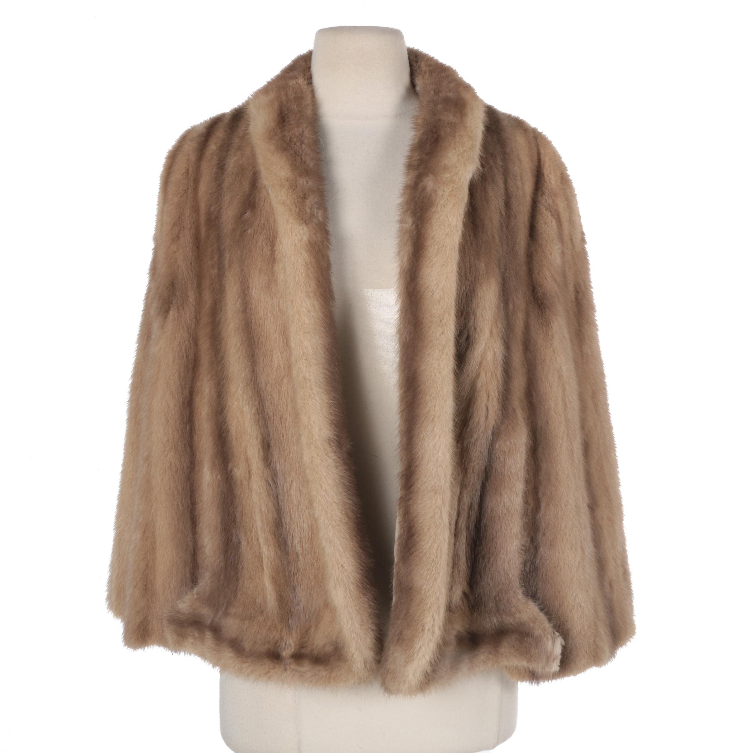 Women's Vintage Mink Fur Cape