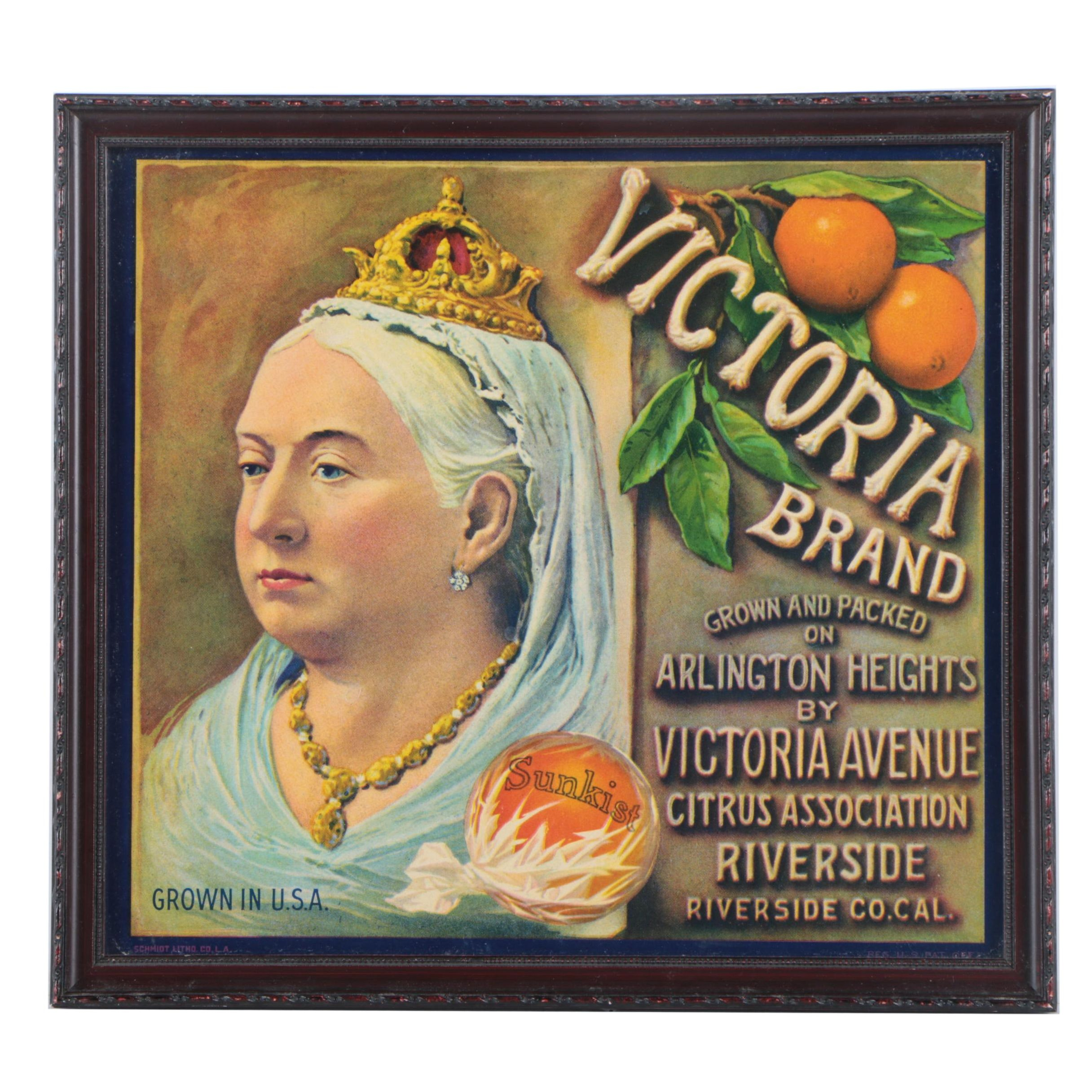 Offset Lithograph of Advertisement for Victoria Oranges