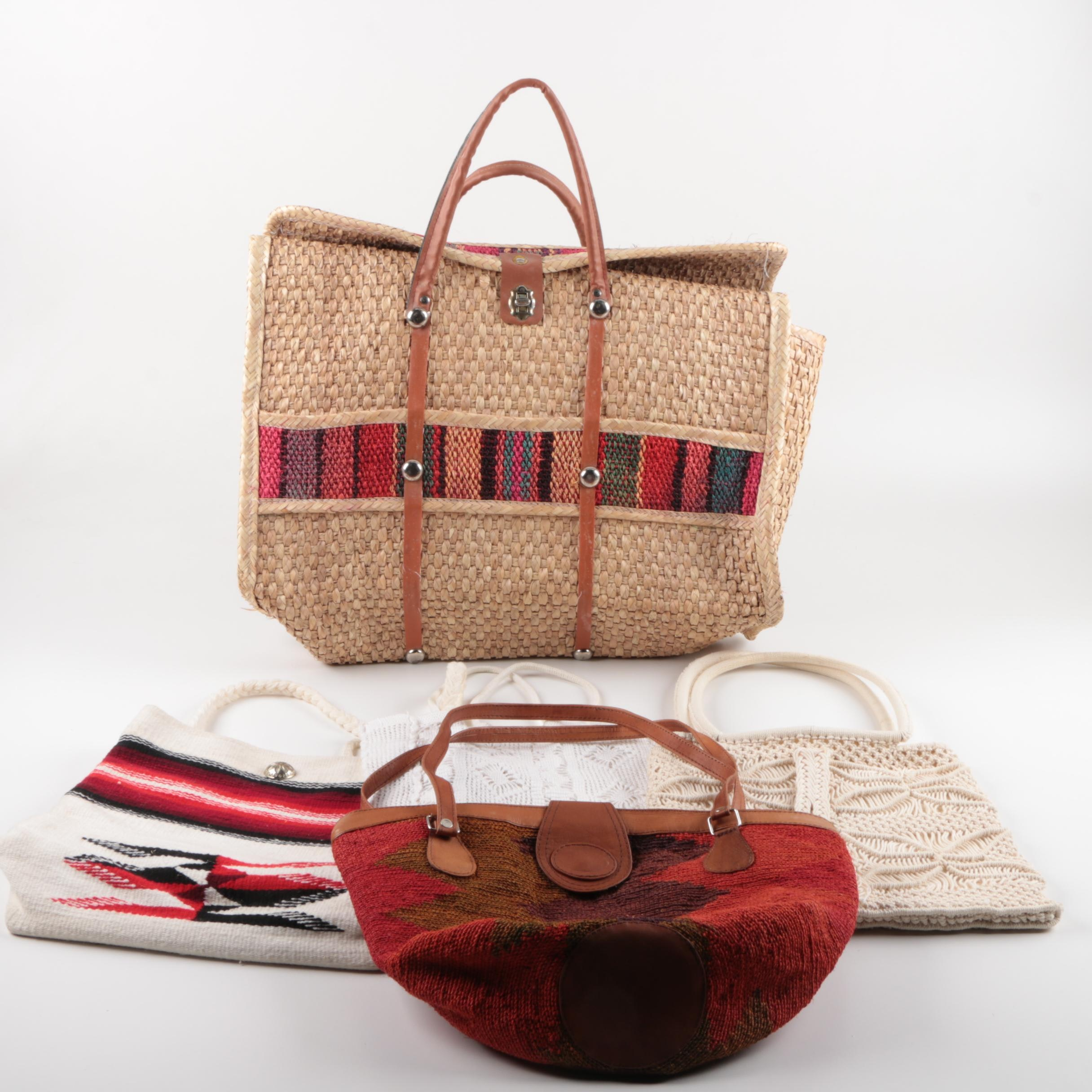 Woven and Macrame Handbags