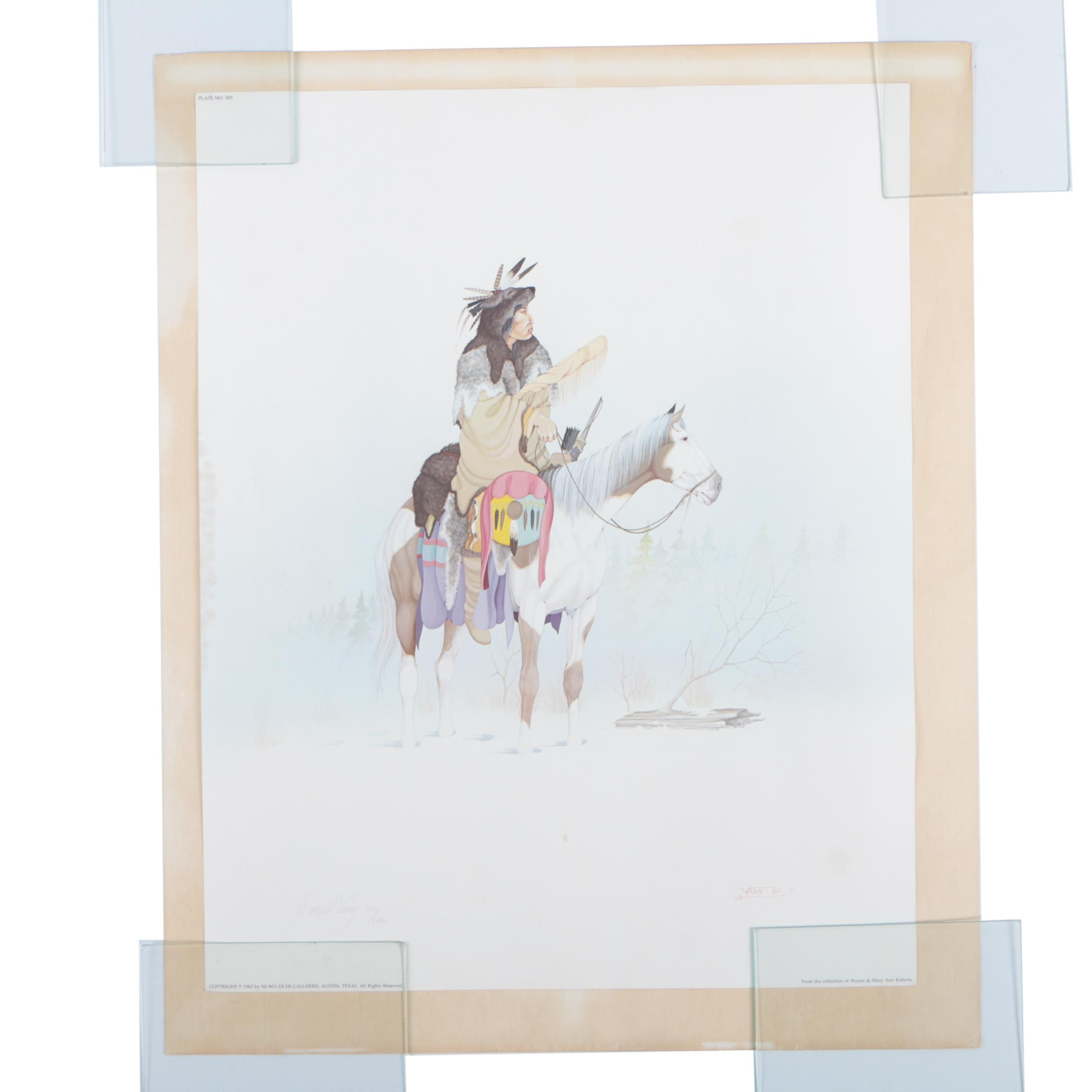 """Donald Vann 1982 Limited Edition Offset Lithograph """"The Sentinel"""""""